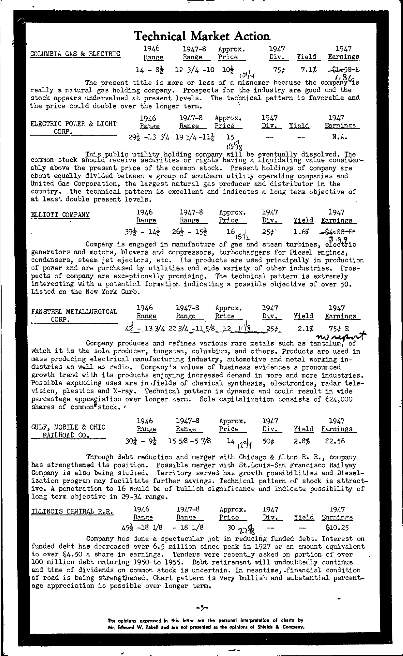 Tabell's Market Letter - February 11, 1948 - Page 5