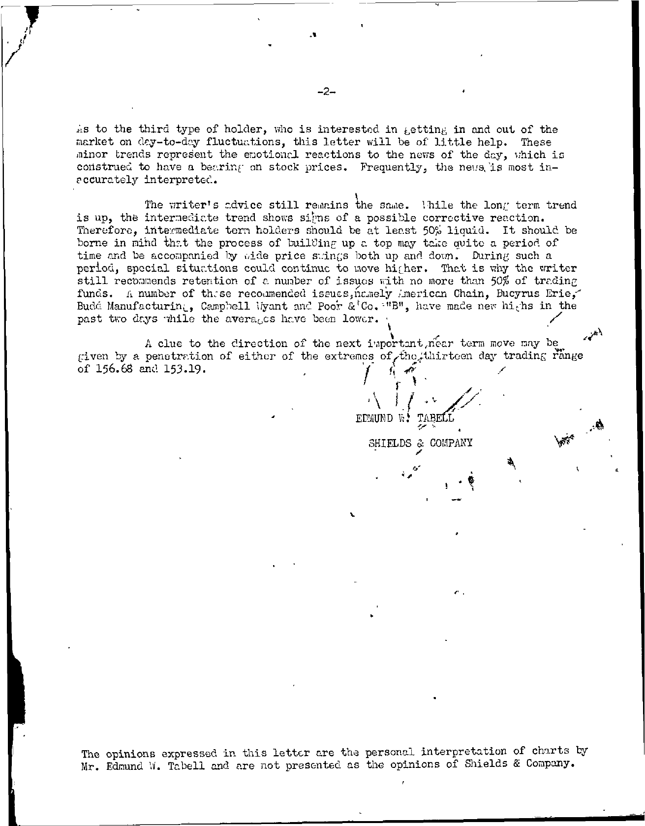 Tabell's Market Letter - January 18, 1945 page 2