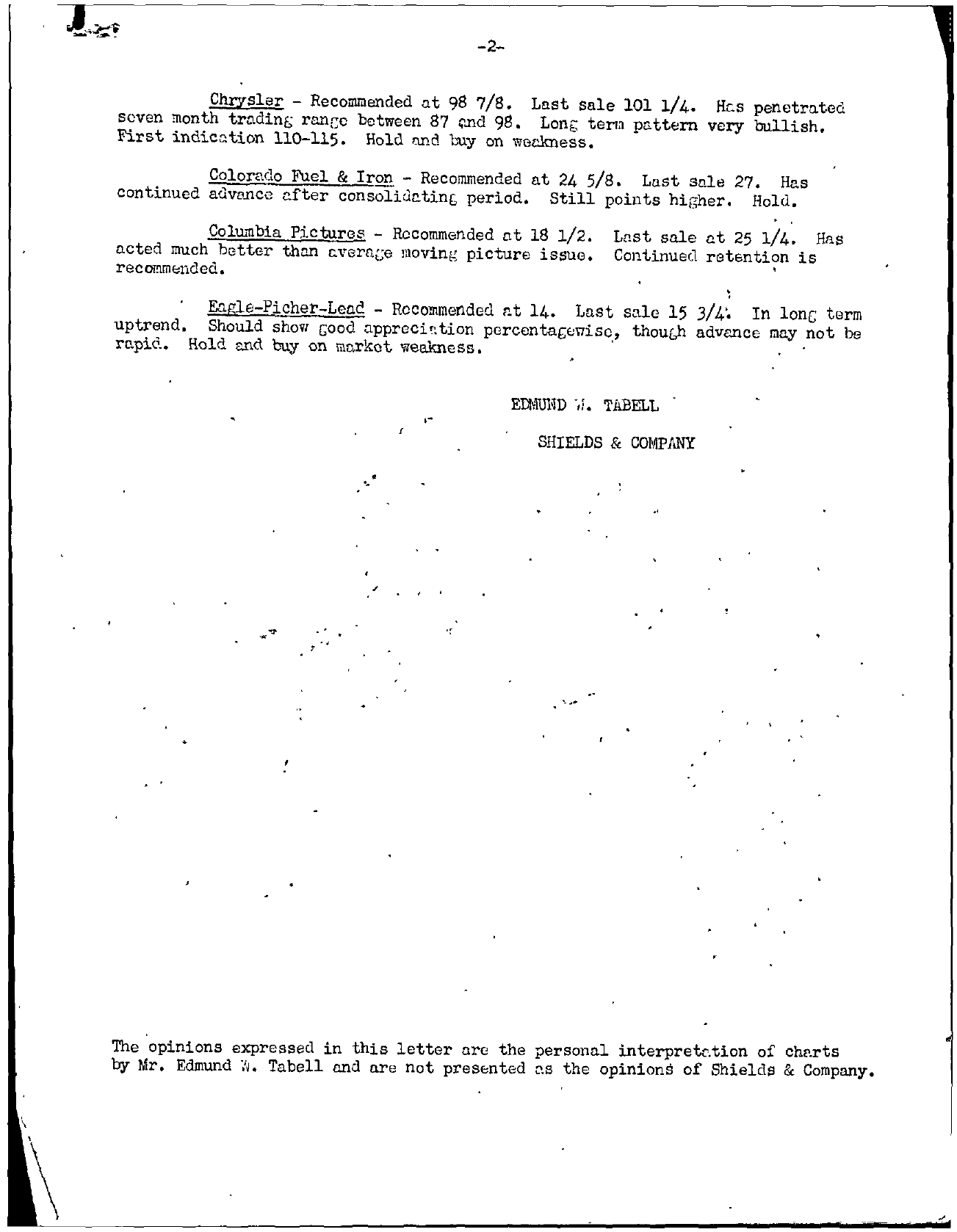 Tabell's Market Letter - February 13, 1945 page 2
