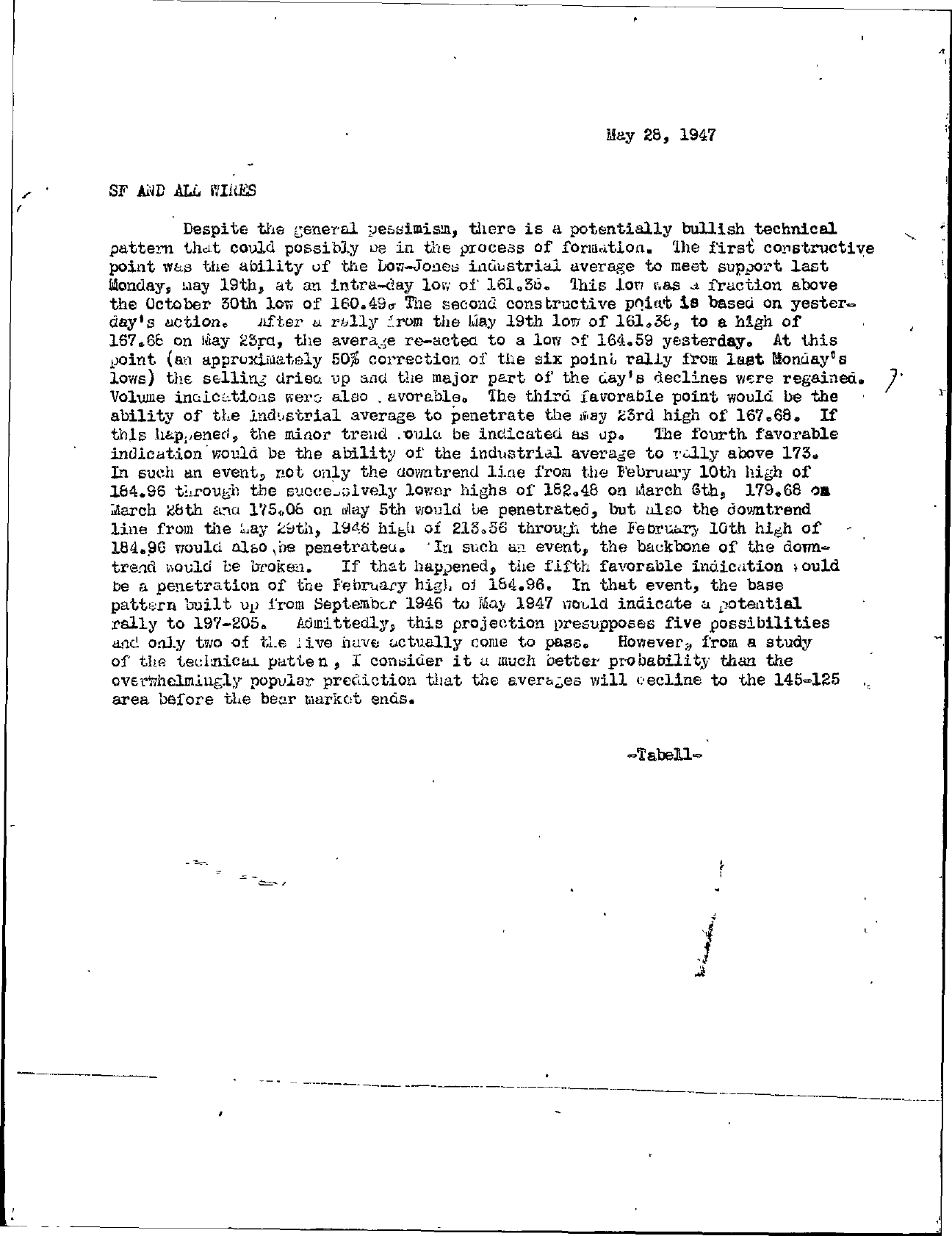 Tabell's Market Letter - May 28, 1947 page 2