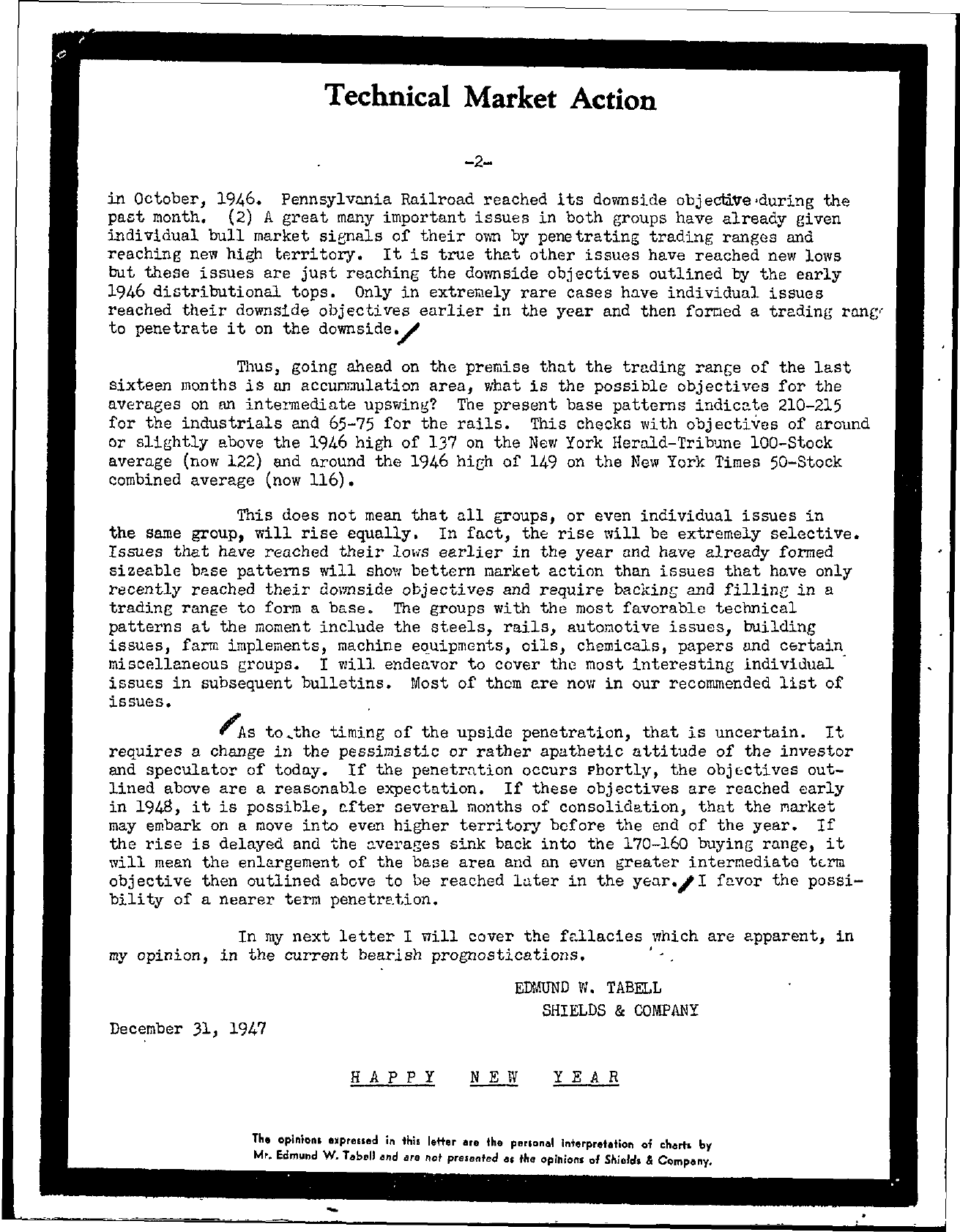 Tabell's Market Letter - December 31, 1947 page 2