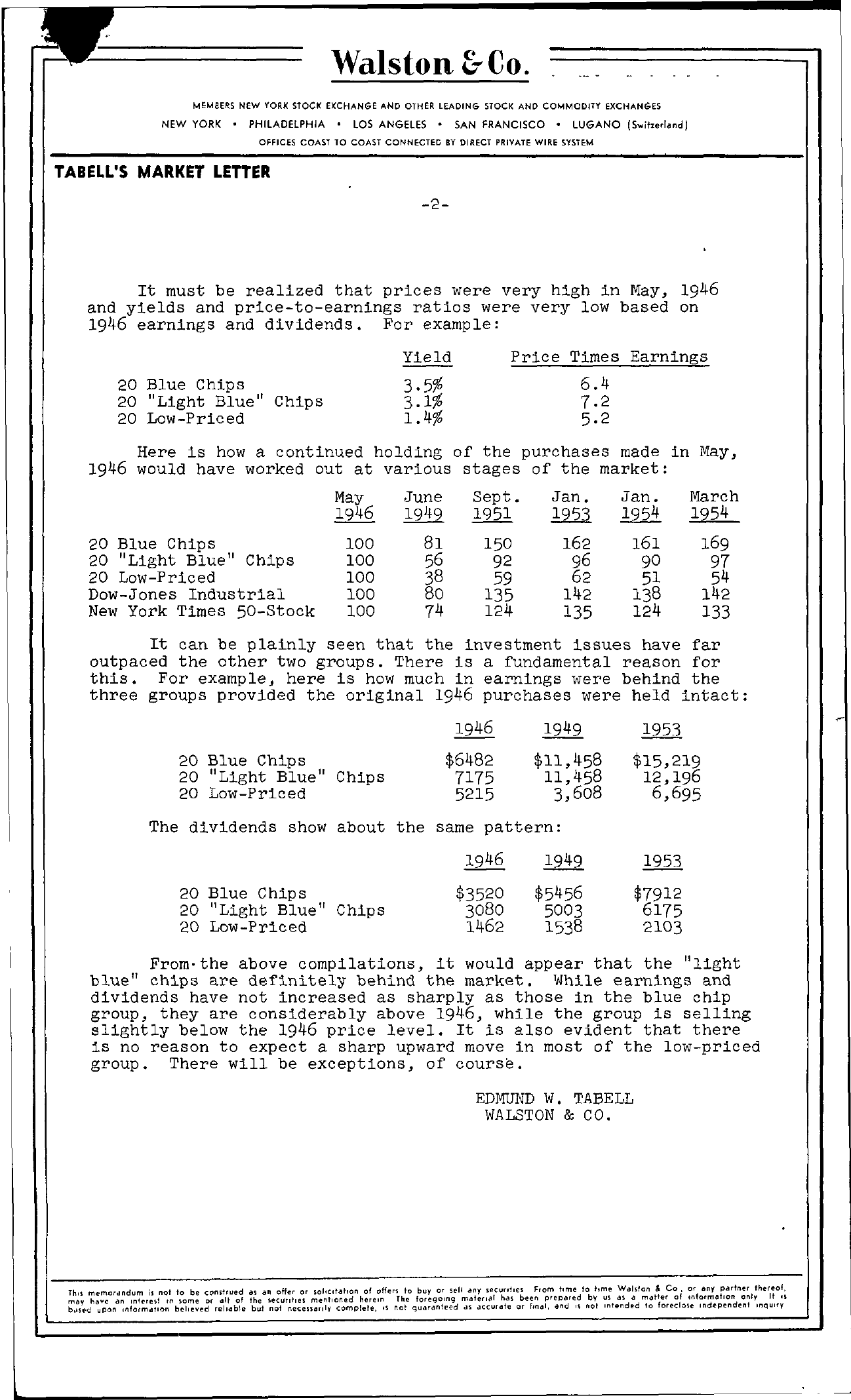 Tabell's Market Letter - March 12, 1954 page 2
