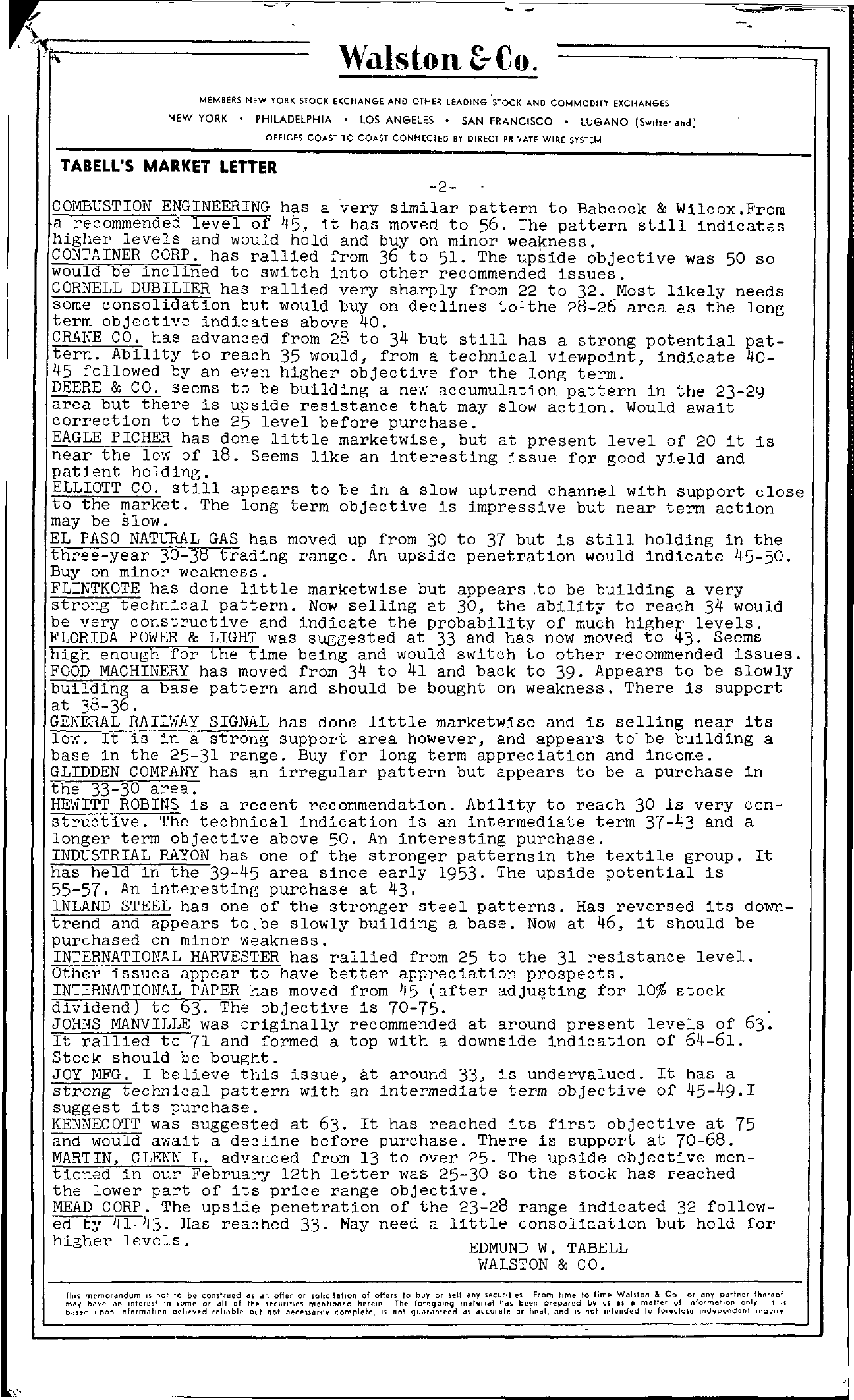 Tabell's Market Letter - April 02, 1954 page 2