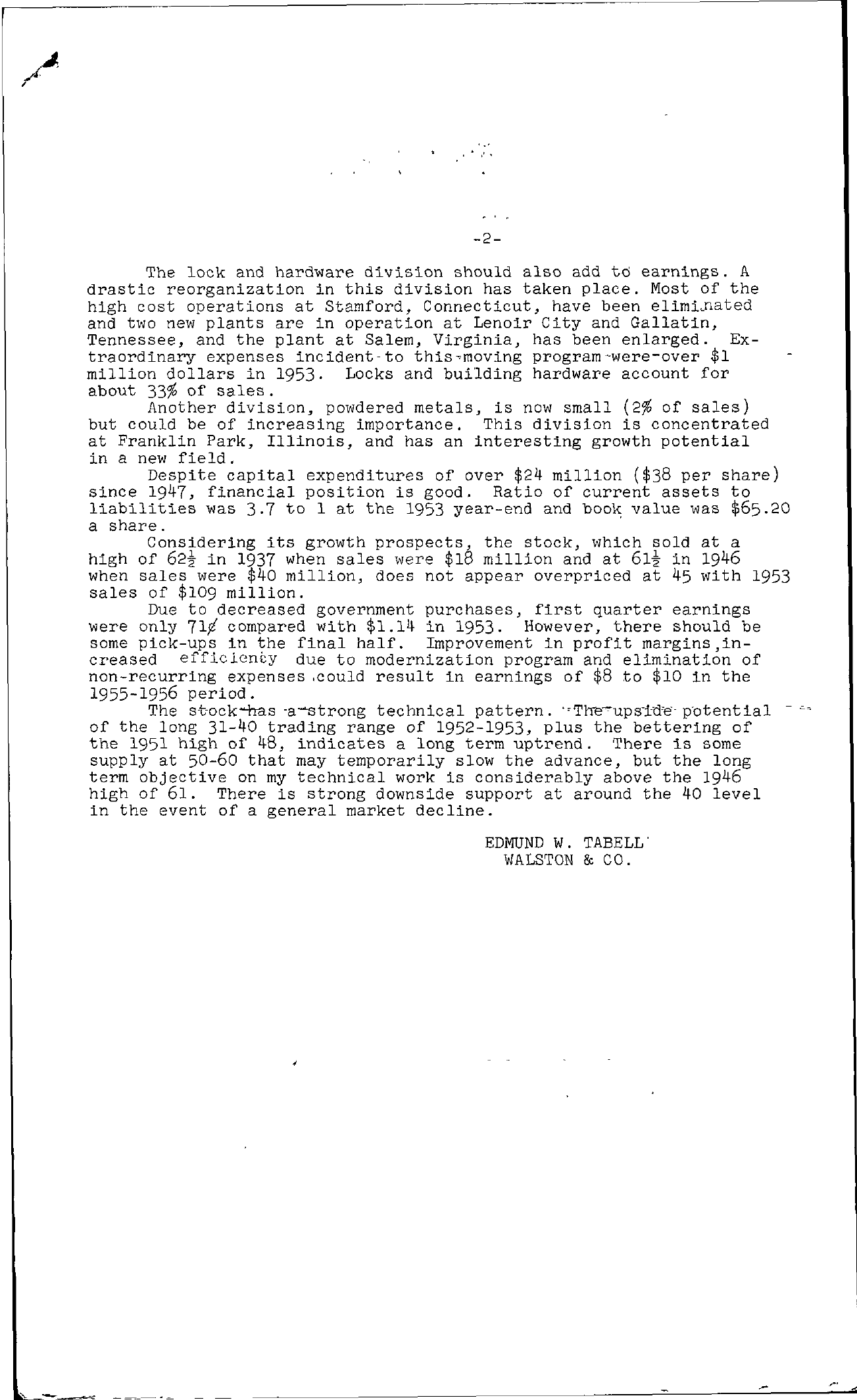 Tabell's Market Letter - July 02, 1954 page 2