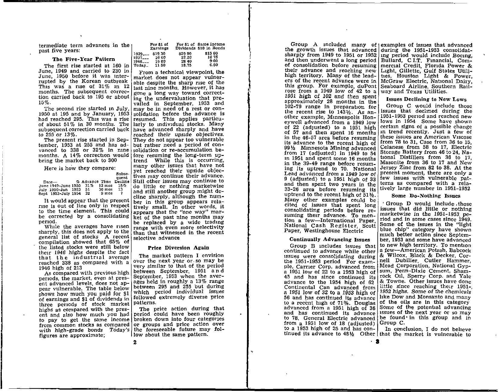 Tabell's Market Letter - July 16, 1954 page 2