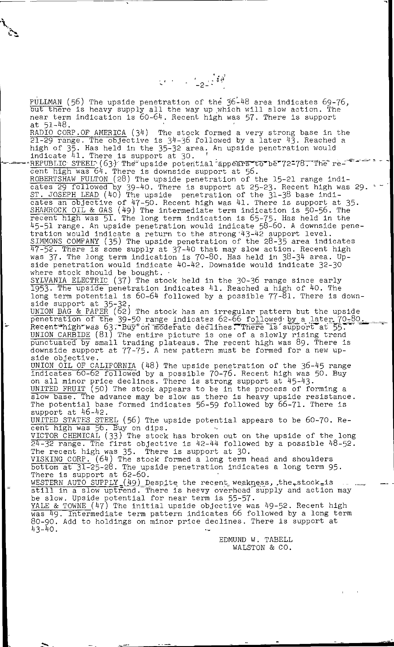 Tabell's Market Letter - September 17, 1954 page 2