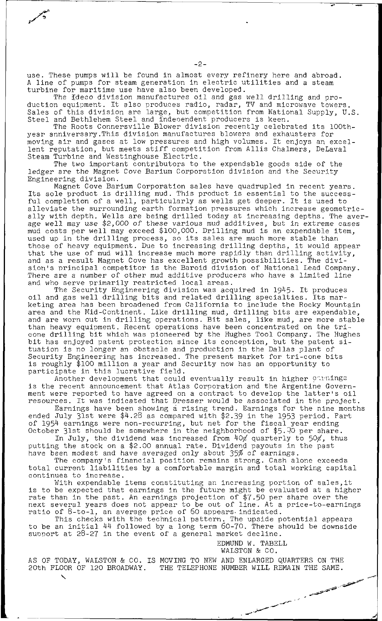 Tabell's Market Letter - September 24, 1954 page 2