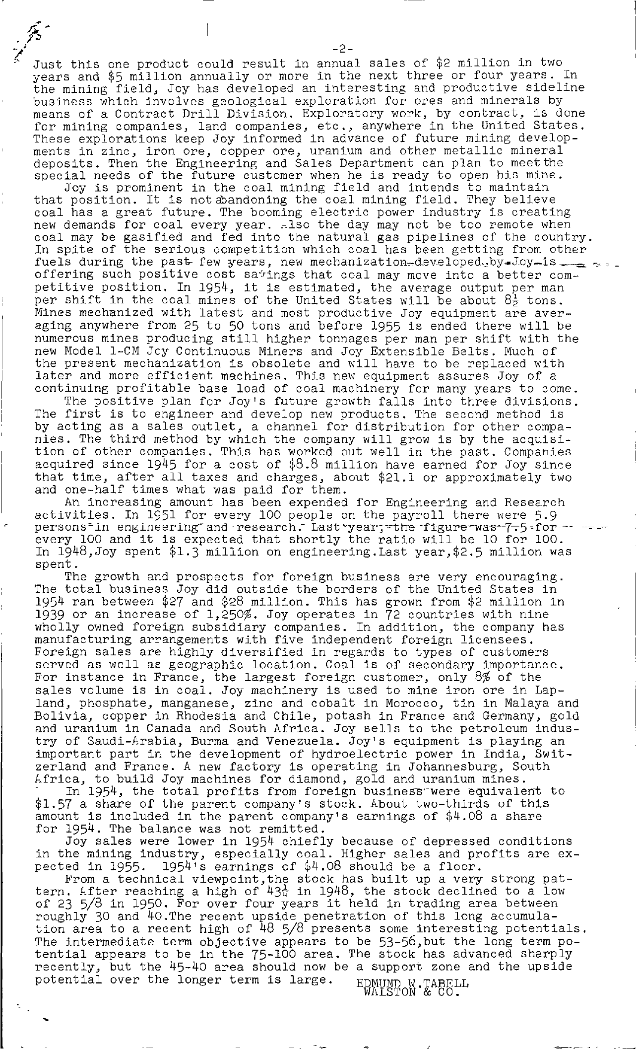 Tabell's Market Letter - December 23, 1954 page 2