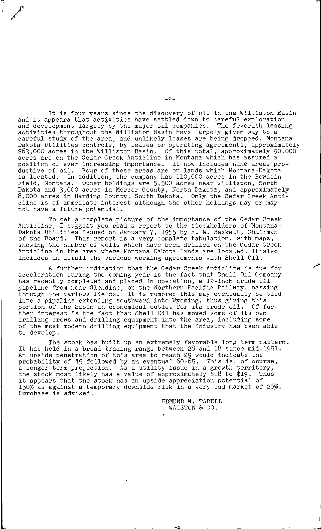 Tabell's Market Letter - January 21, 1955 page 2