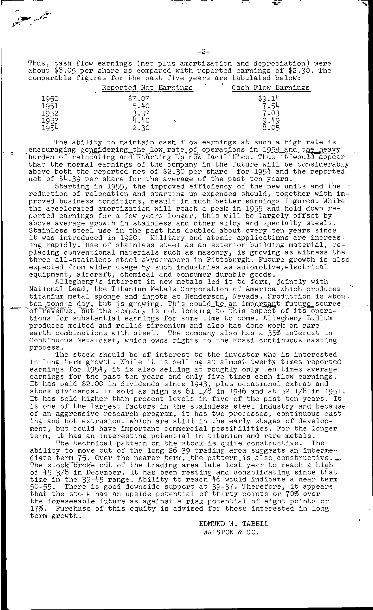 Tabell's Market Letter - February 04, 1955 page 2