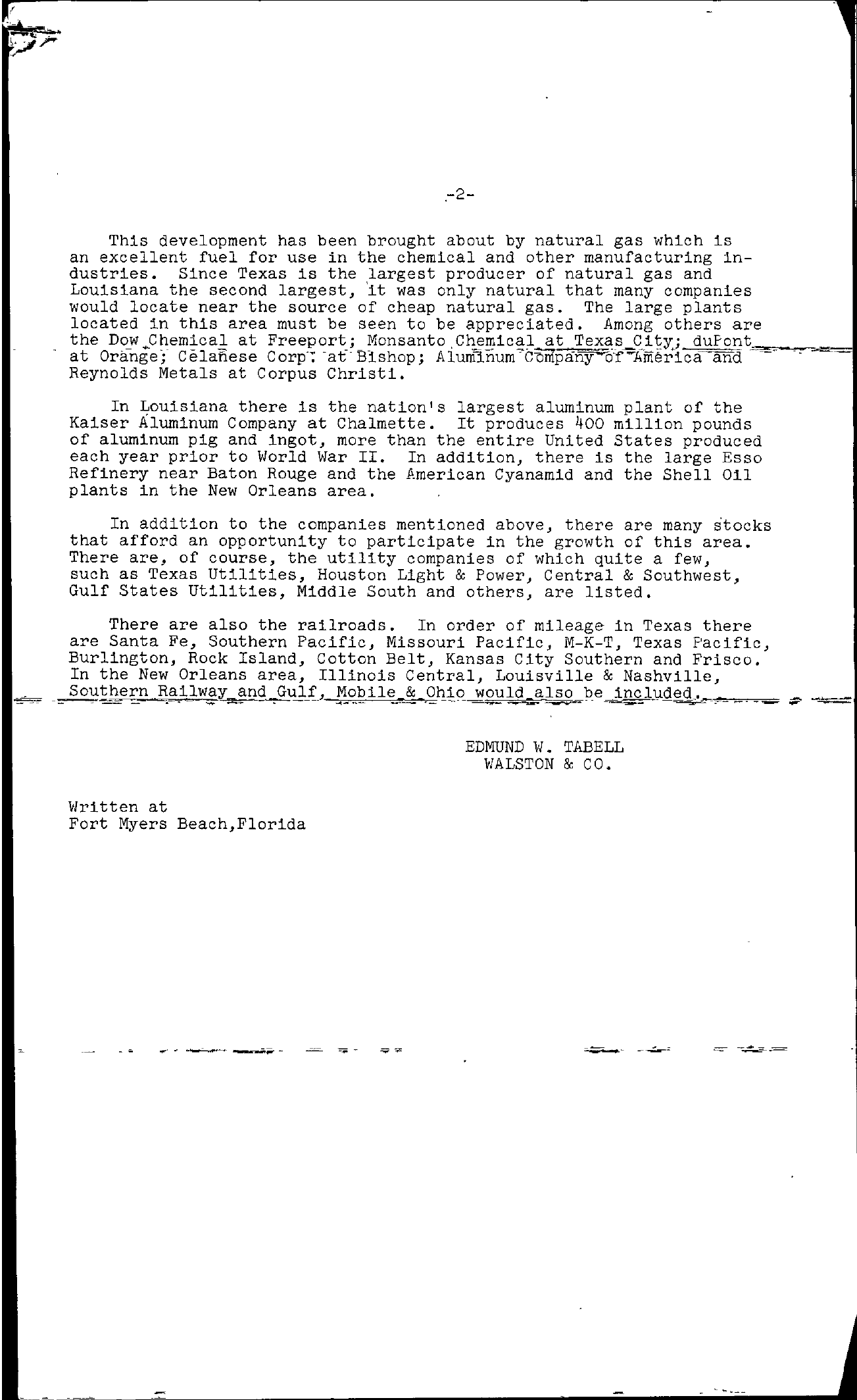 Tabell's Market Letter - March 18, 1955 page 2