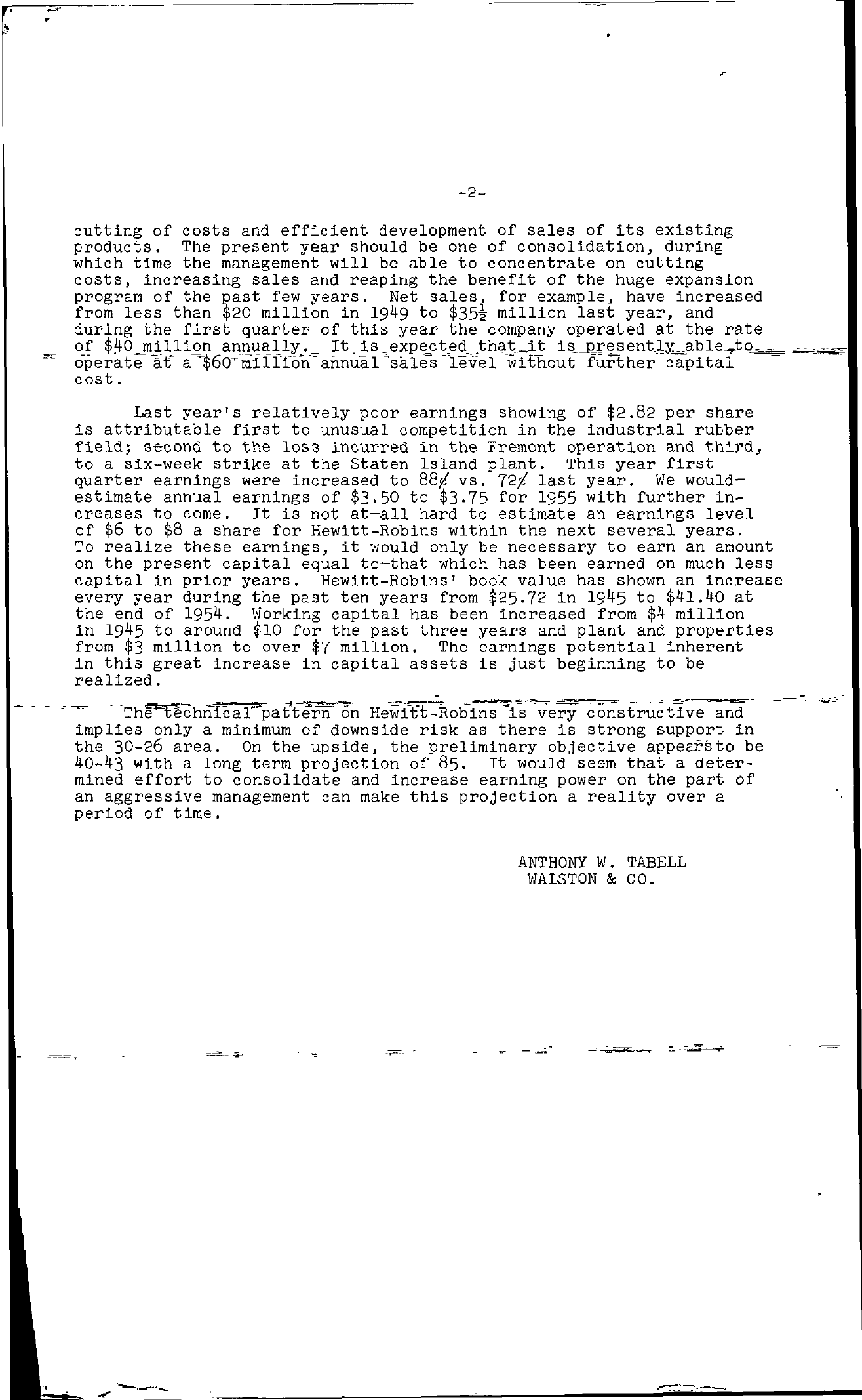 Tabell's Market Letter - May 13, 1955 page 2