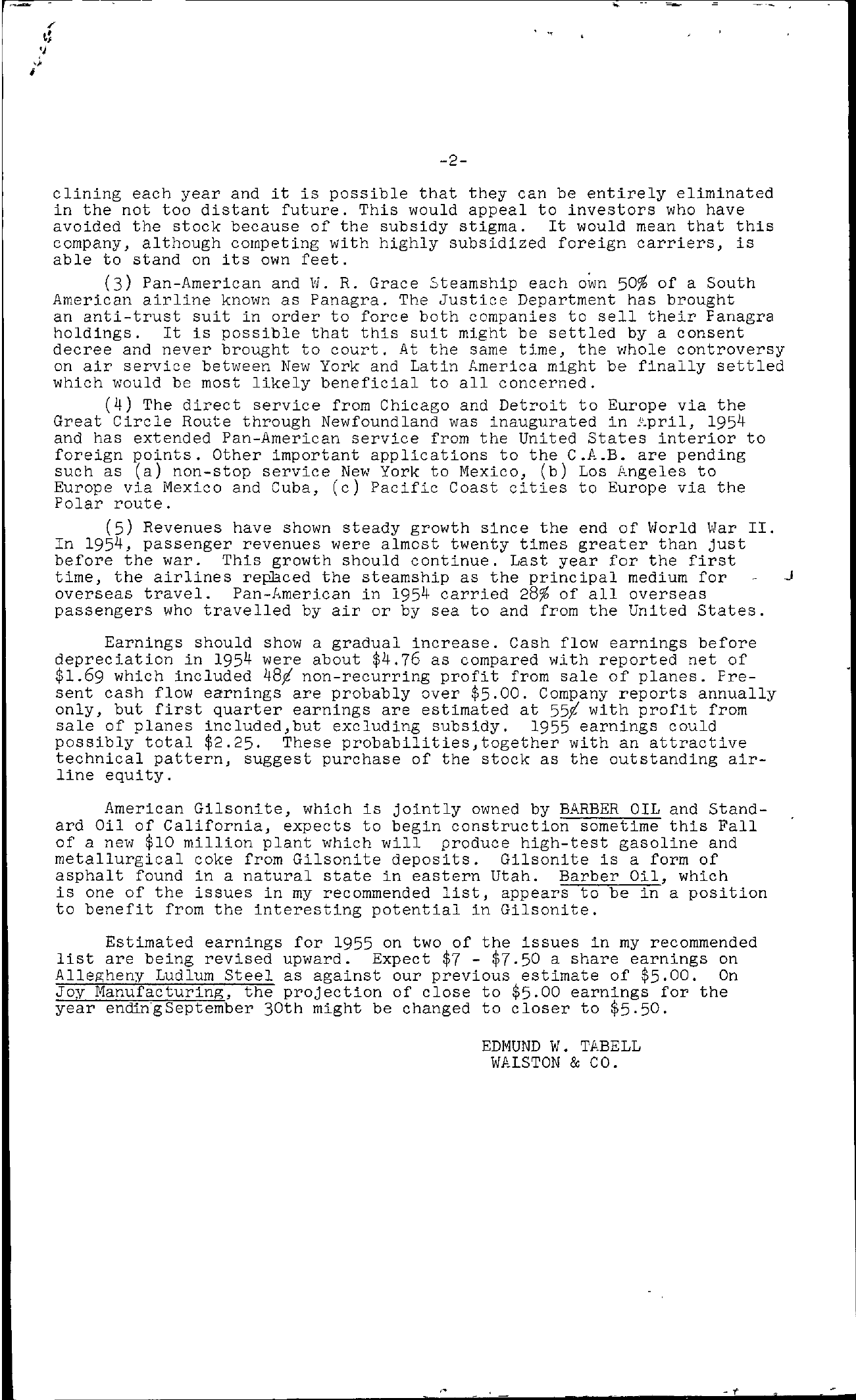 Tabell's Market Letter - June 24, 1955 page 2