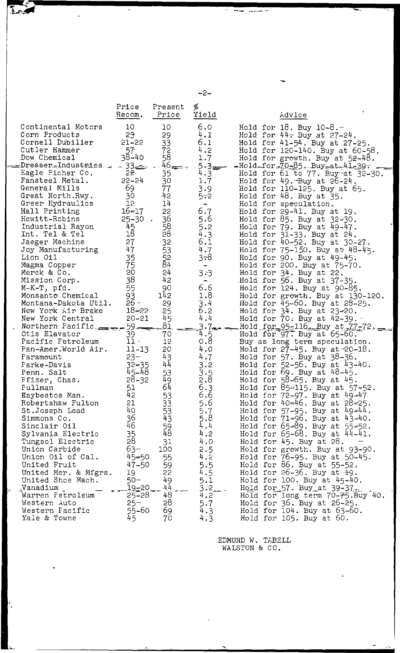 Tabell's Market Letter - July 01, 1955 page 2