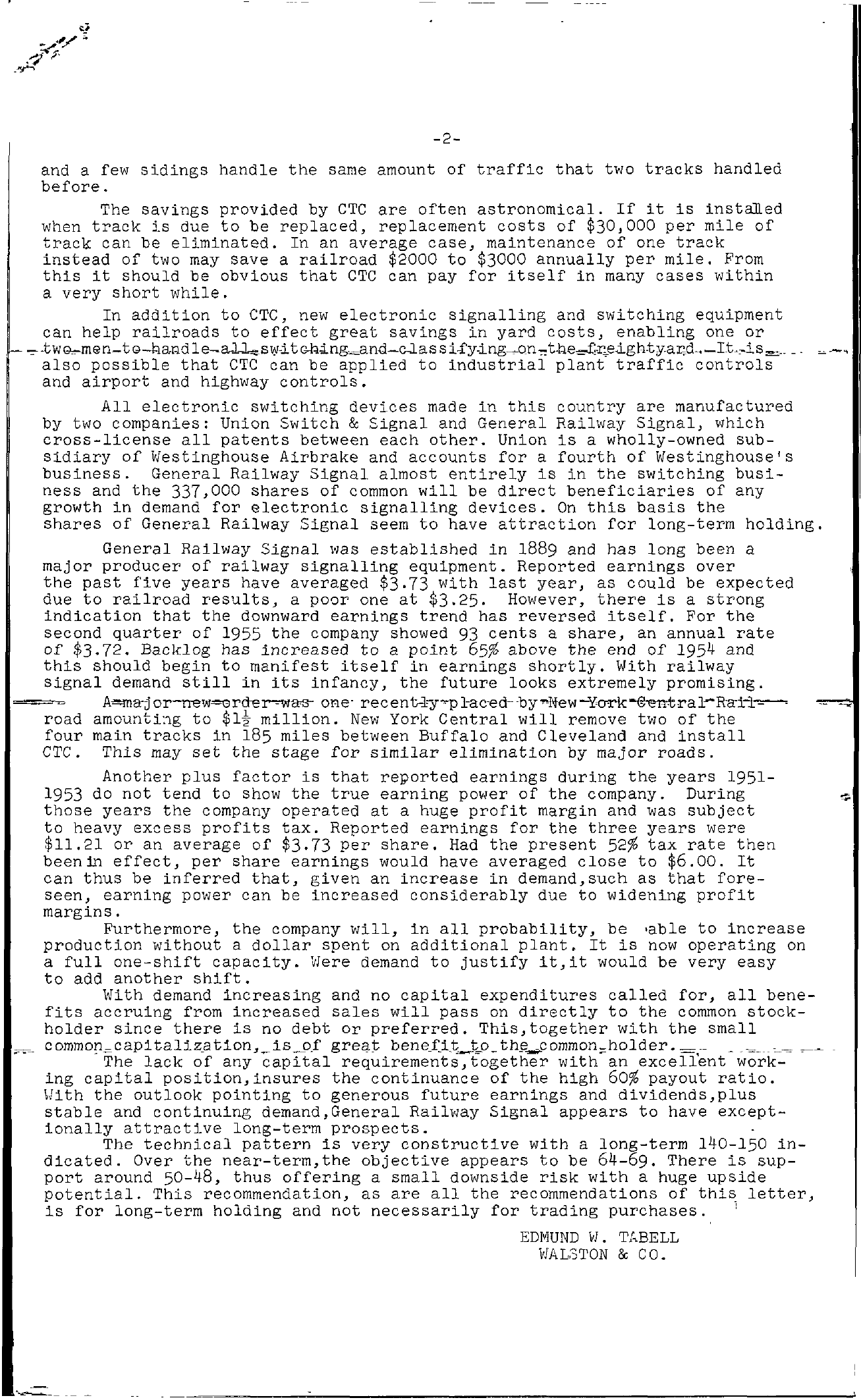 Tabell's Market Letter - September 16, 1955 page 2