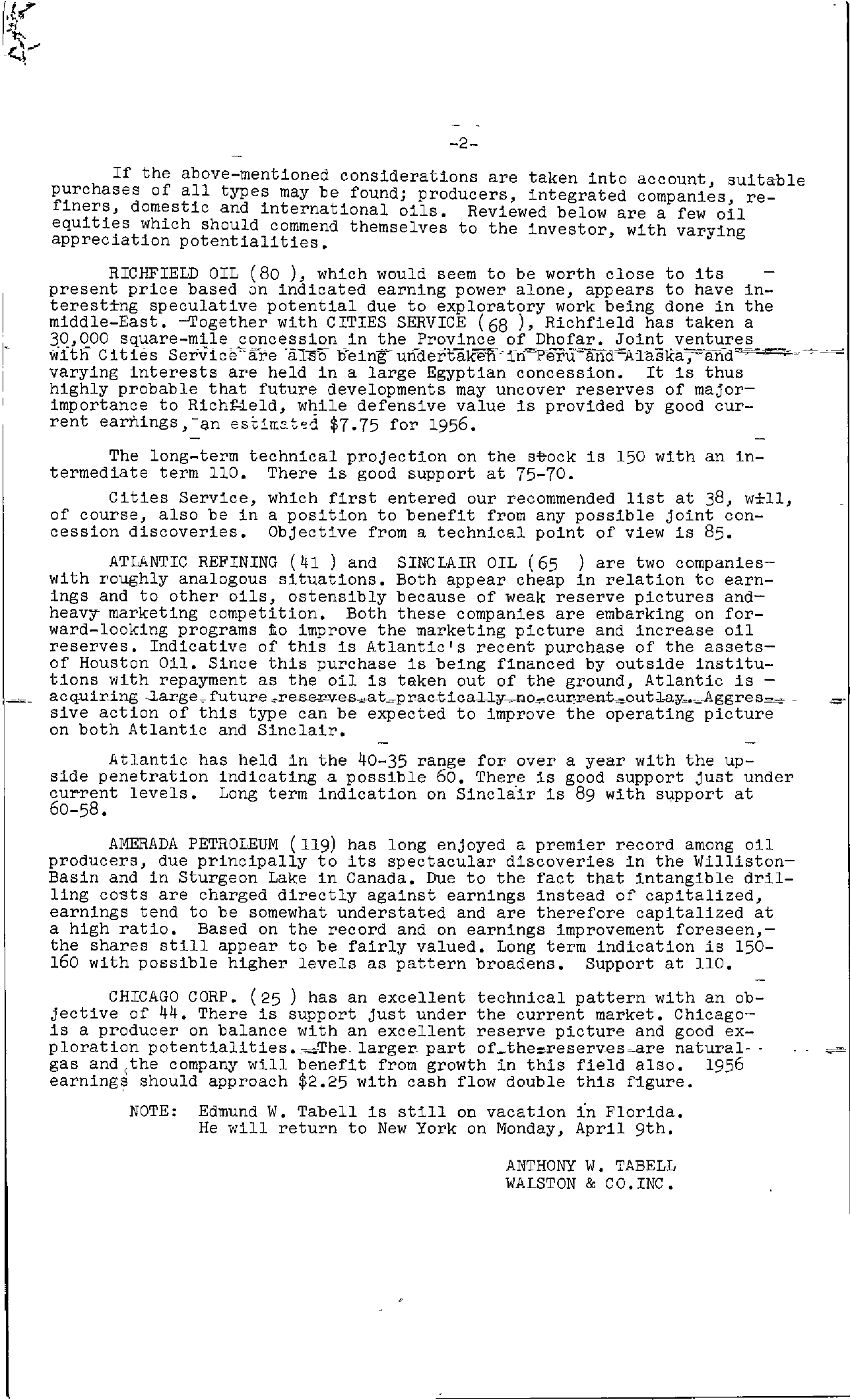 Tabell's Market Letter - March 29, 1956 page 2