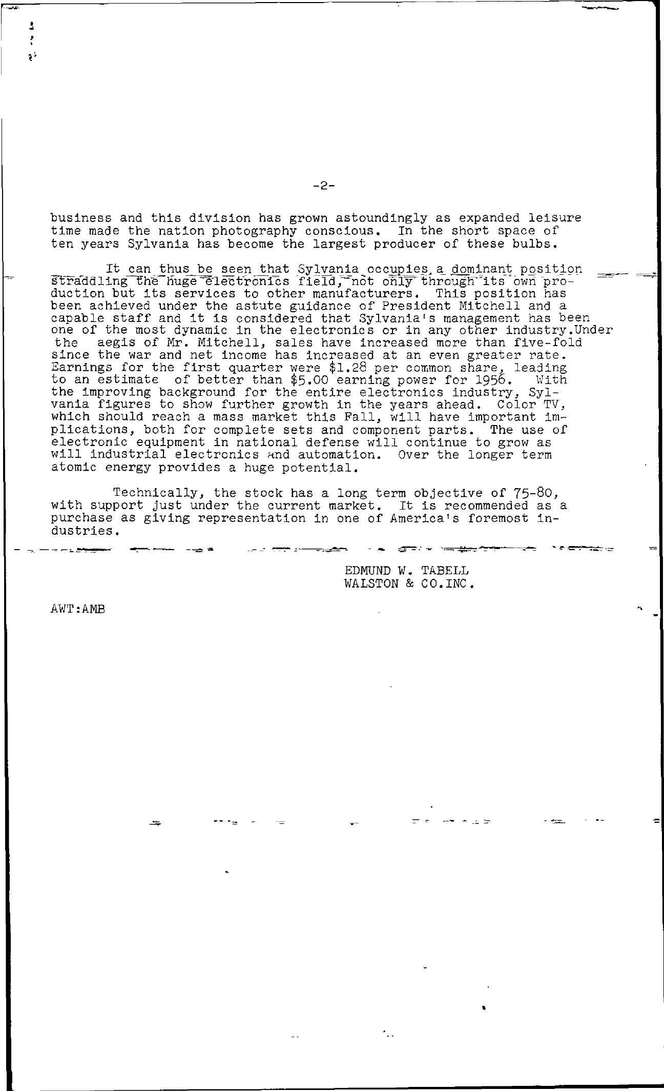 Tabell's Market Letter - June 22, 1956 page 2