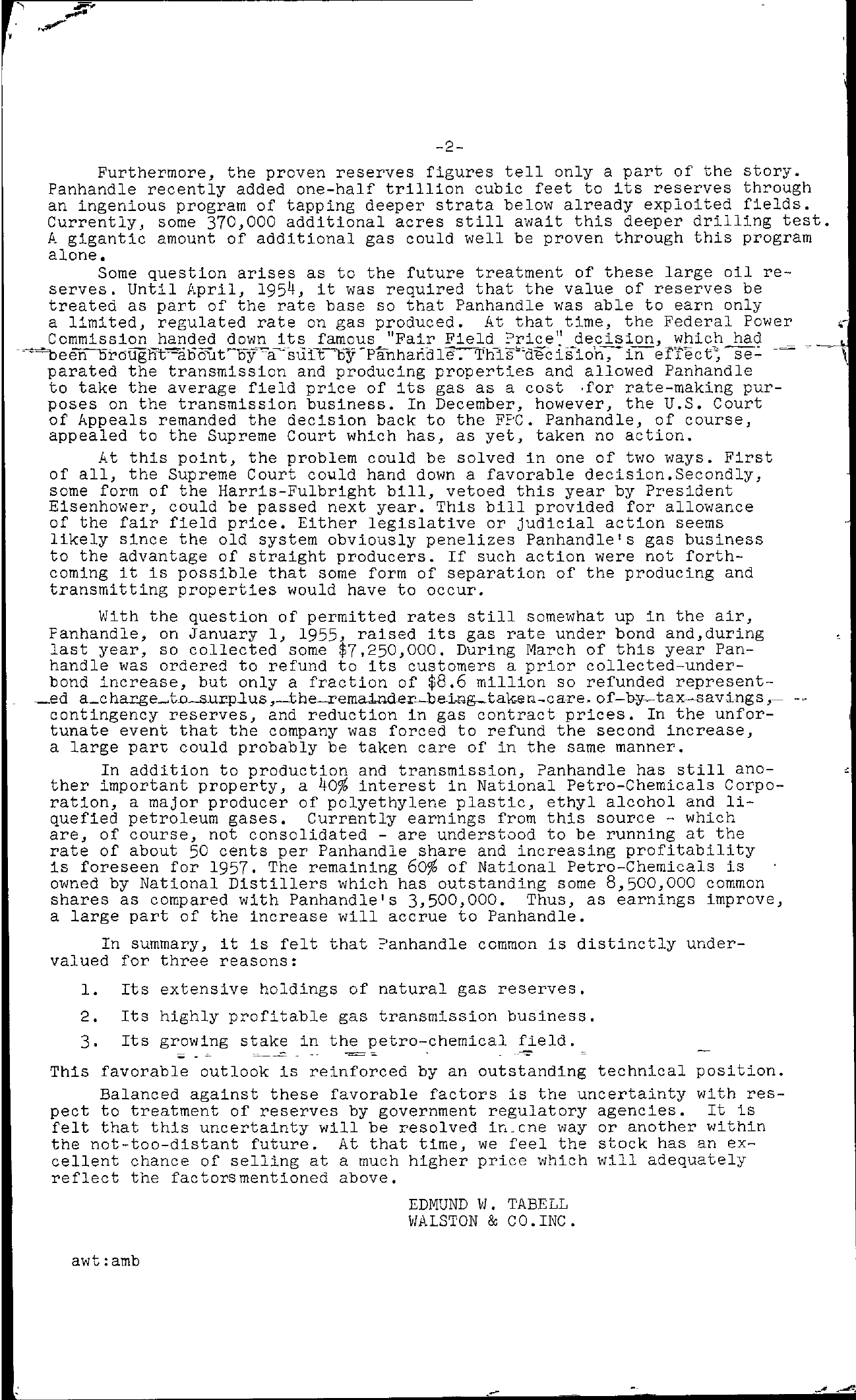 Tabell's Market Letter - June 29, 1956 page 2