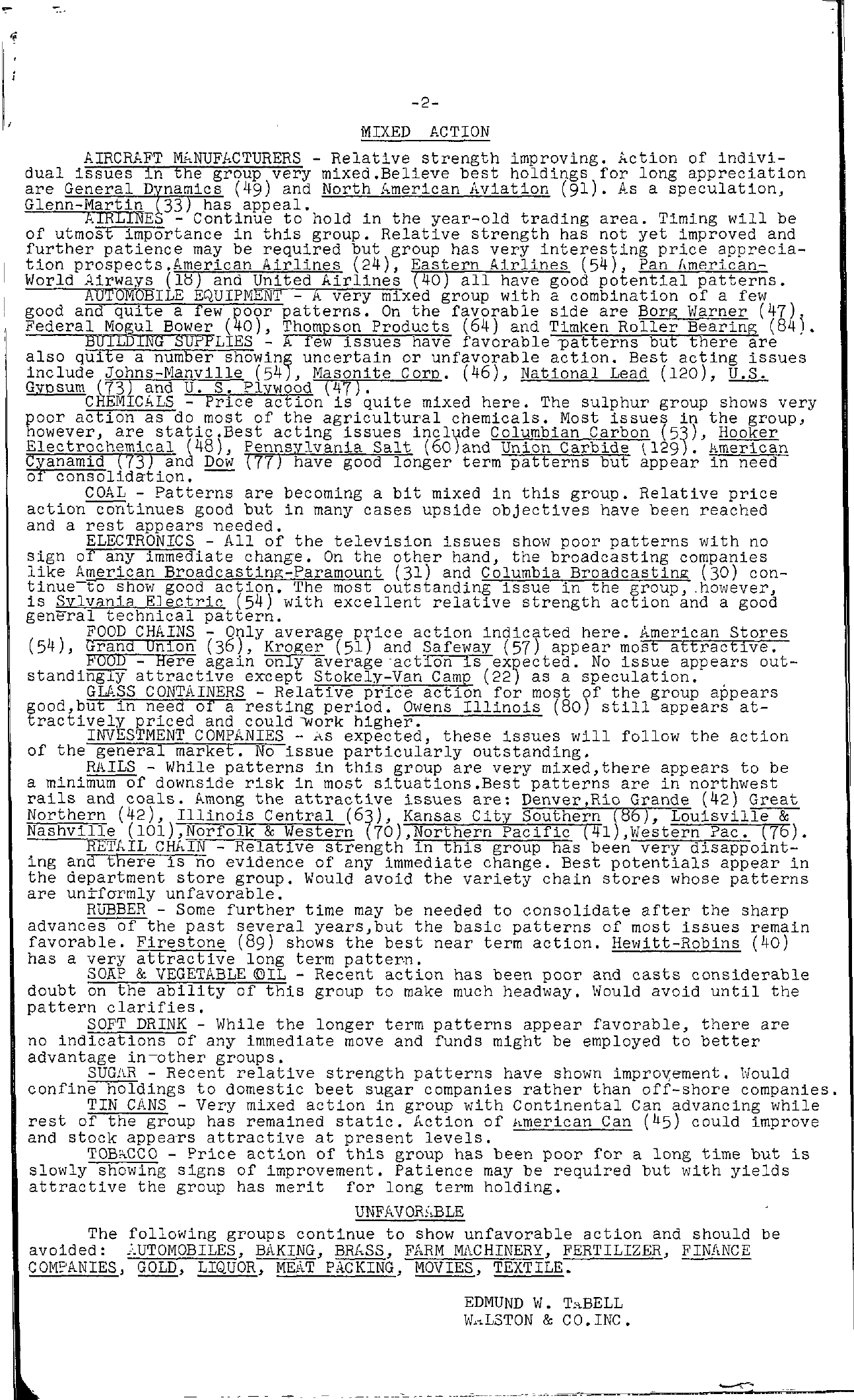 Tabell's Market Letter - August 15, 1956 page 2