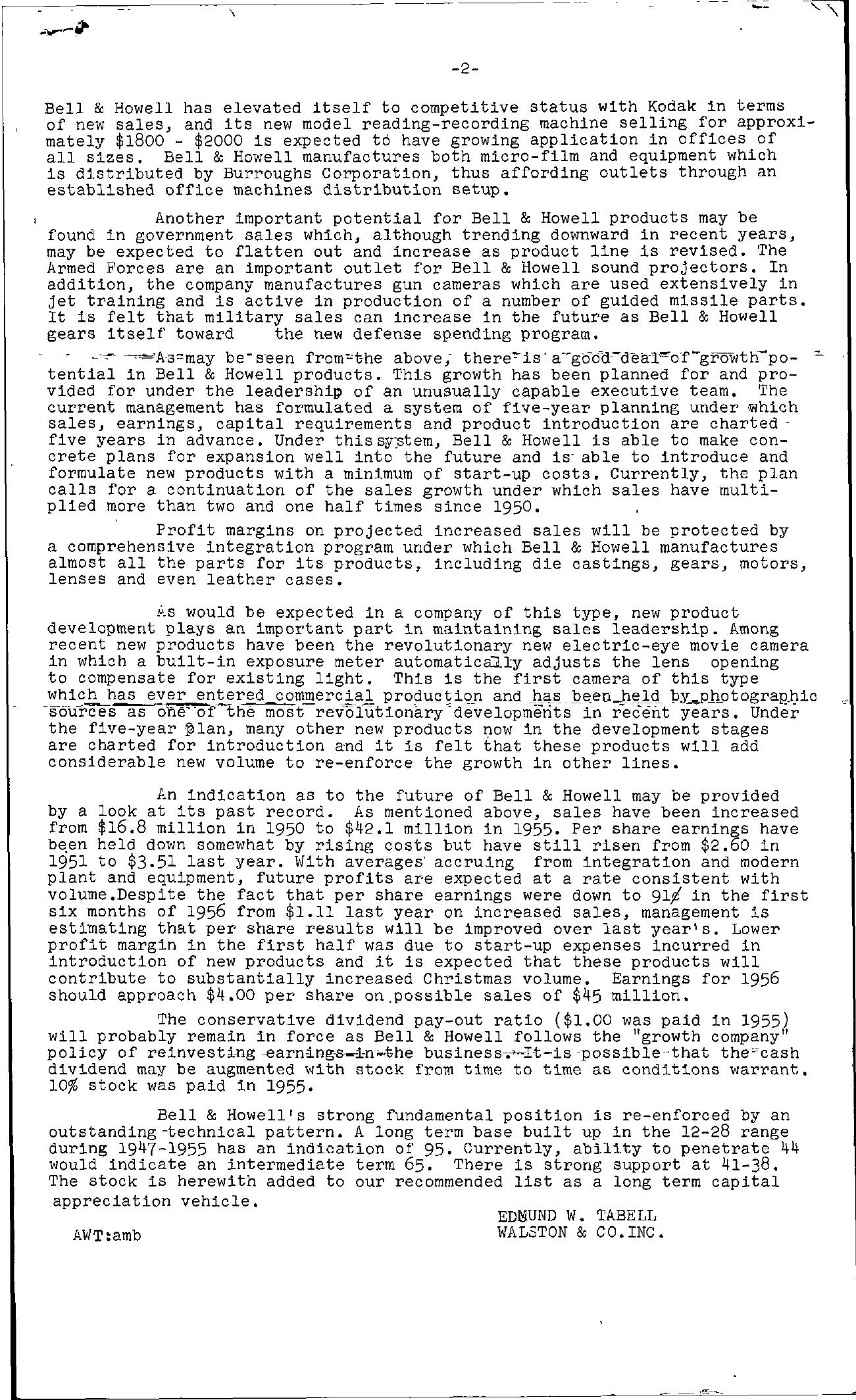 Tabell's Market Letter - September 14, 1956 page 2