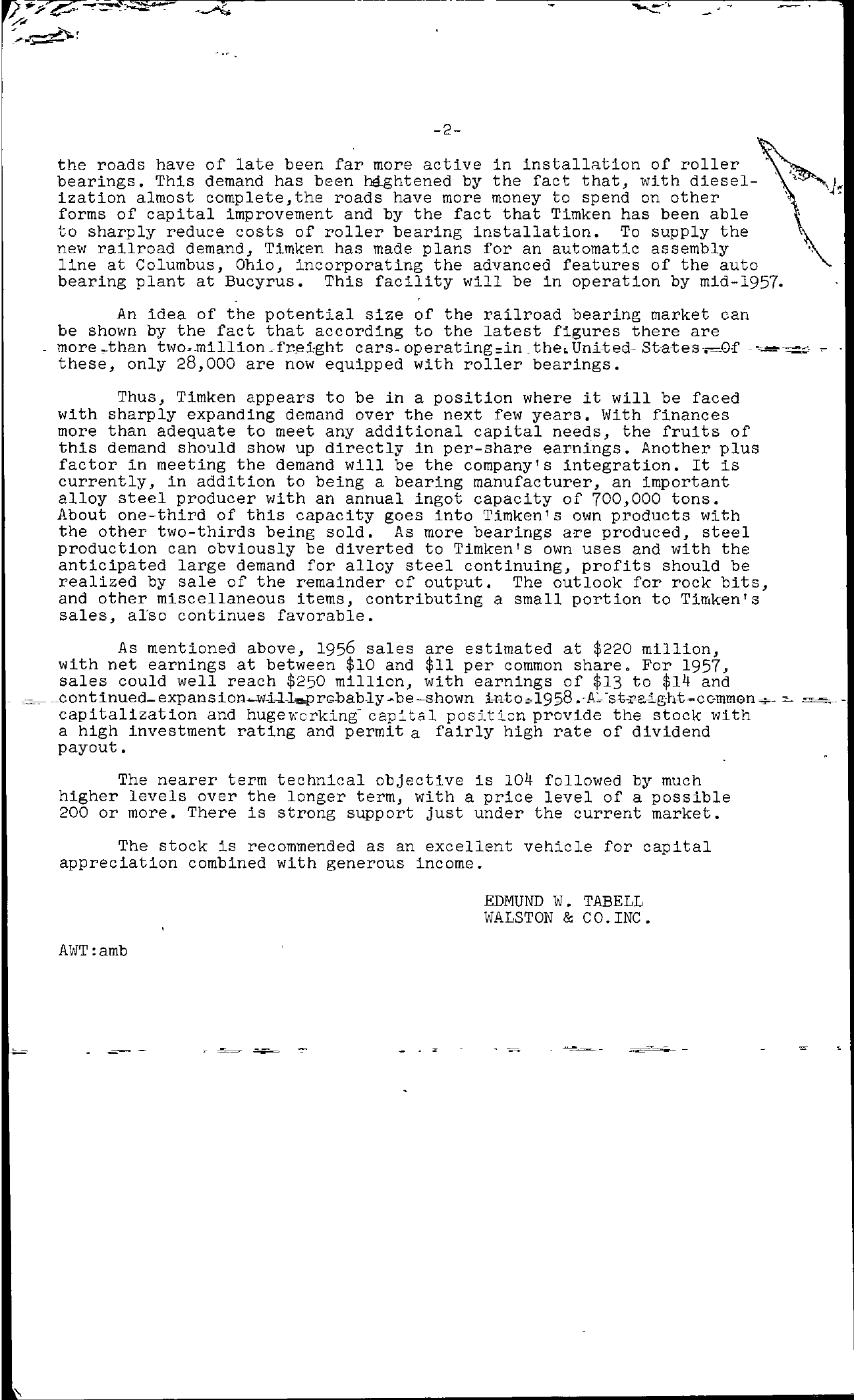 Tabell's Market Letter - October 26, 1956 page 2