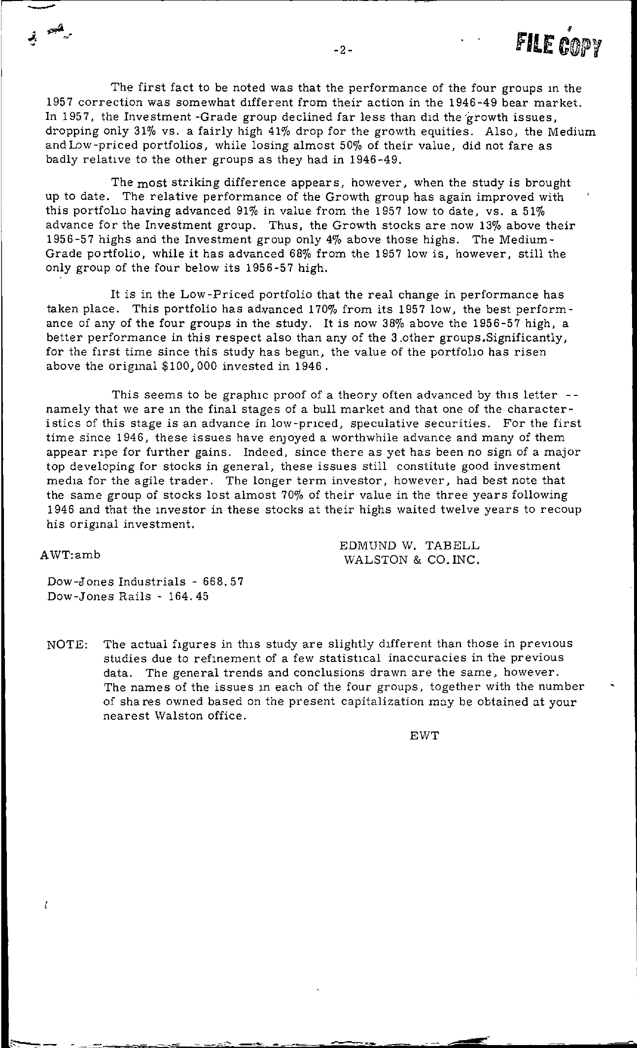 Tabell's Market Letter - August 07, 1959 page 2