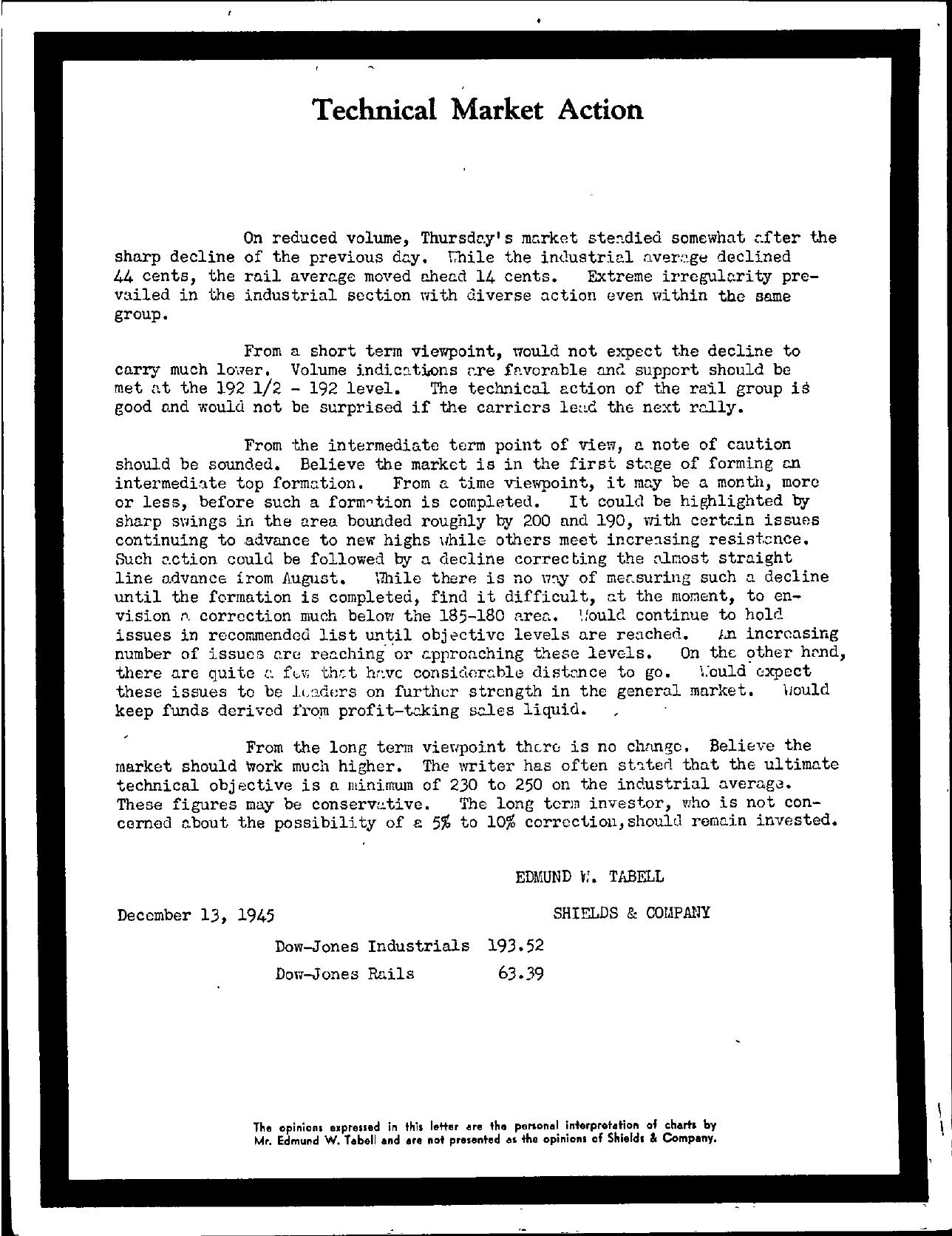 Tabell's Market Letter - December 13, 1945