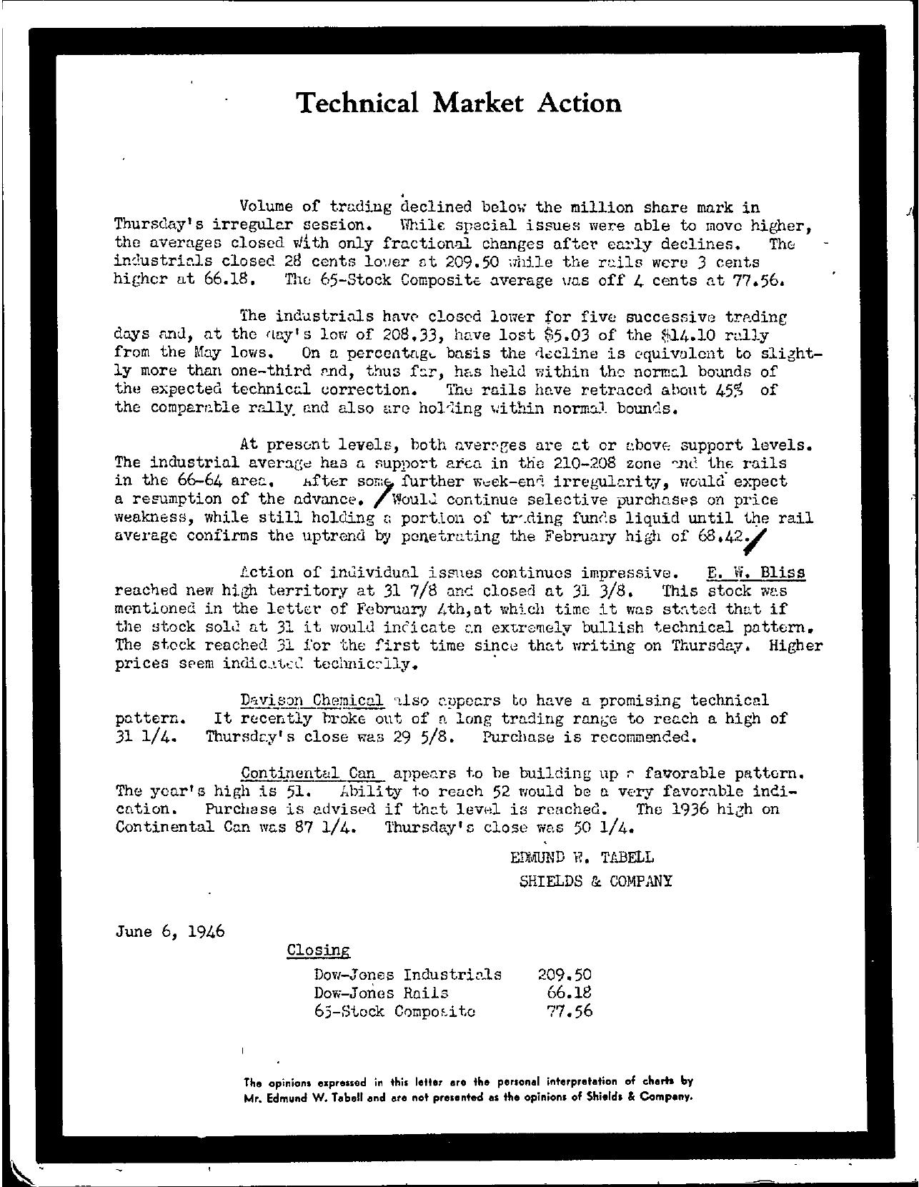 Tabell's Market Letter - June 06, 1946