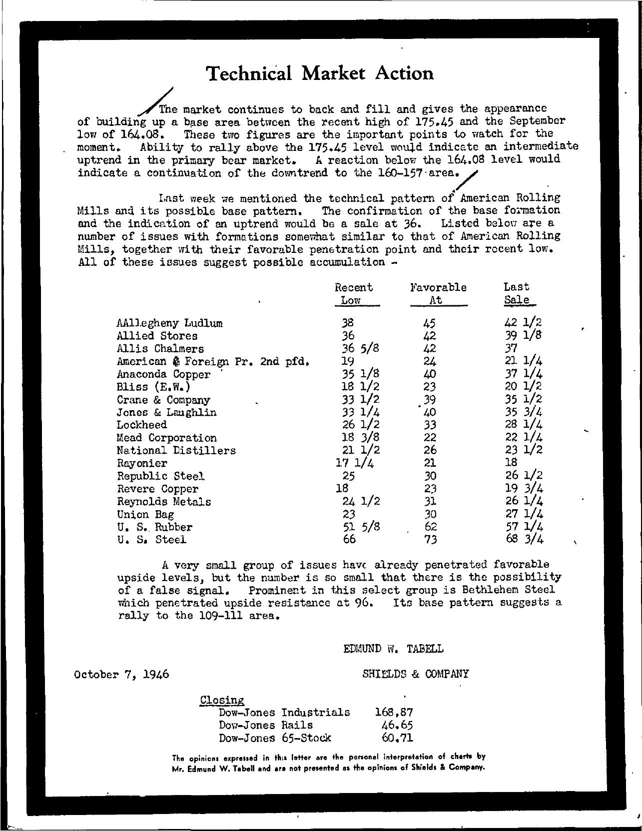 Tabell's Market Letter - October 07, 1946