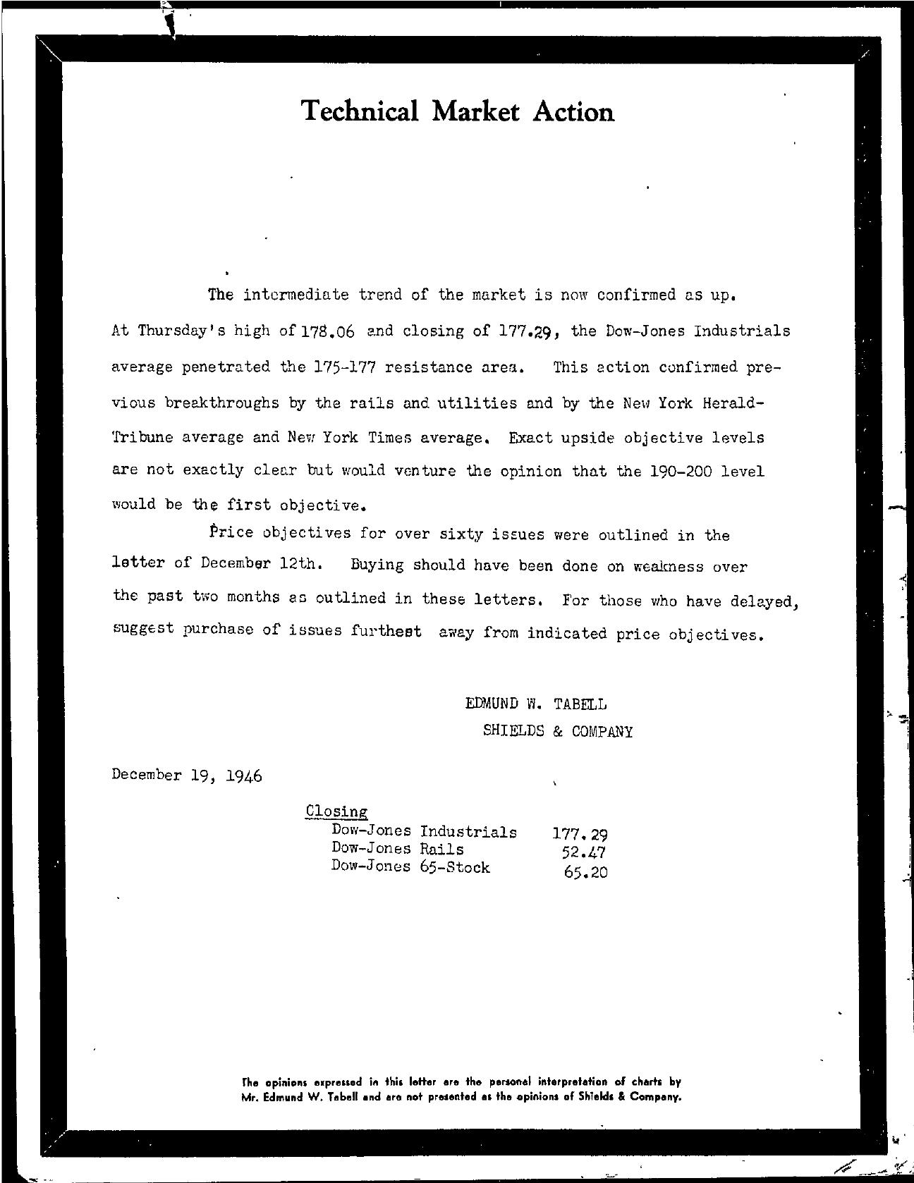 Tabell's Market Letter - December 19, 1946
