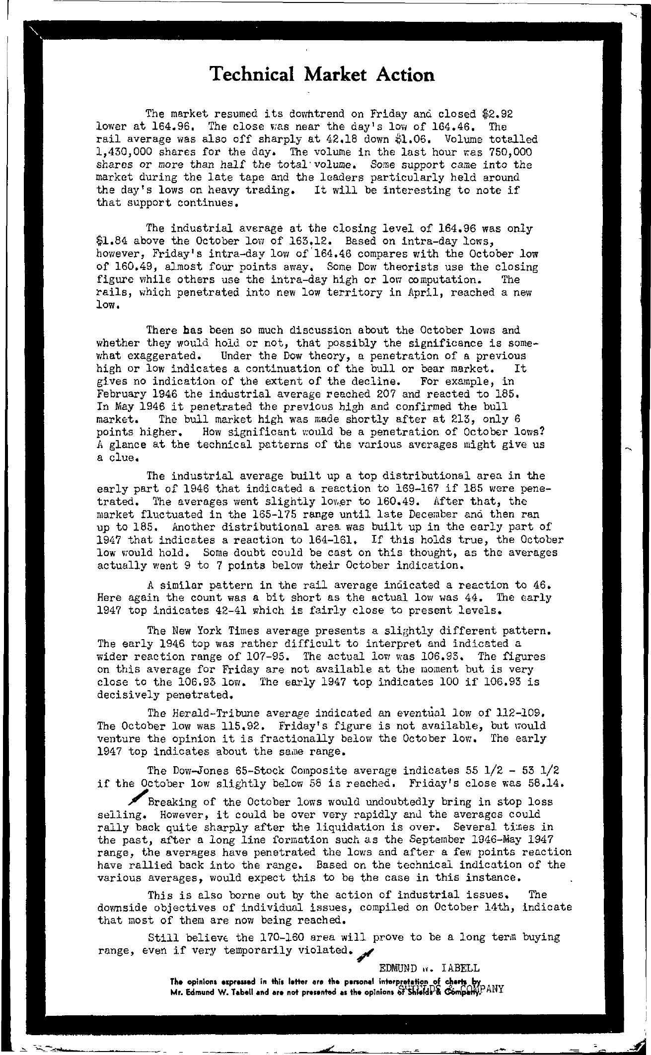 Tabell's Market Letter - May 10, 1947