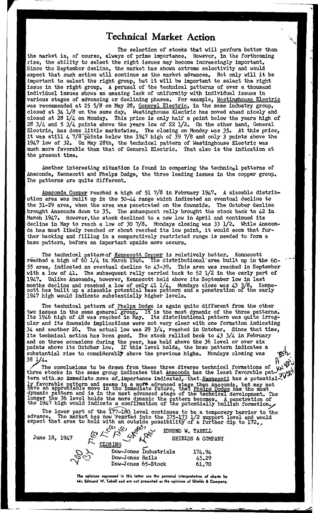 Tabell's Market Letter - June 18, 1947