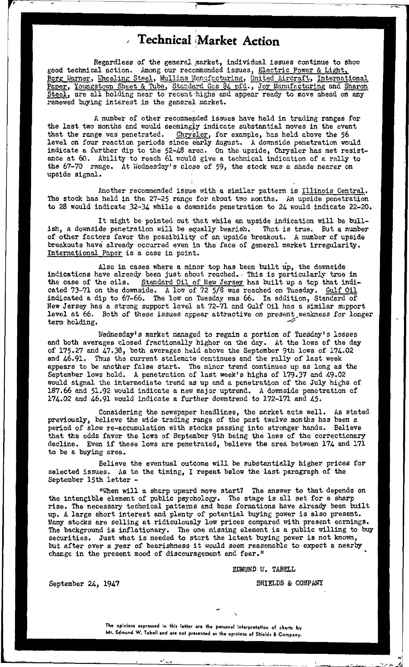 Tabell's Market Letter - September 24, 1947