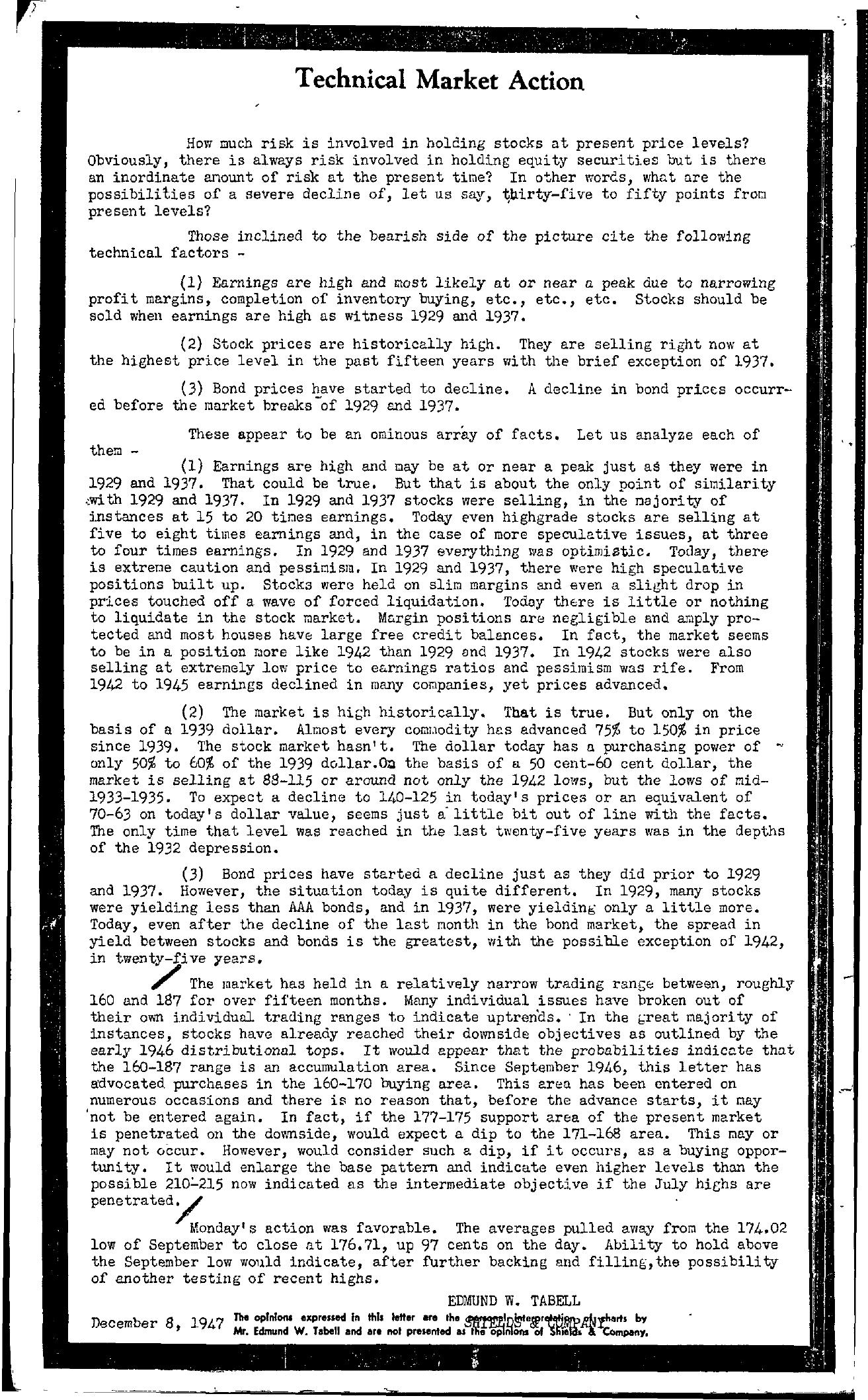 Tabell's Market Letter - December 08, 1947