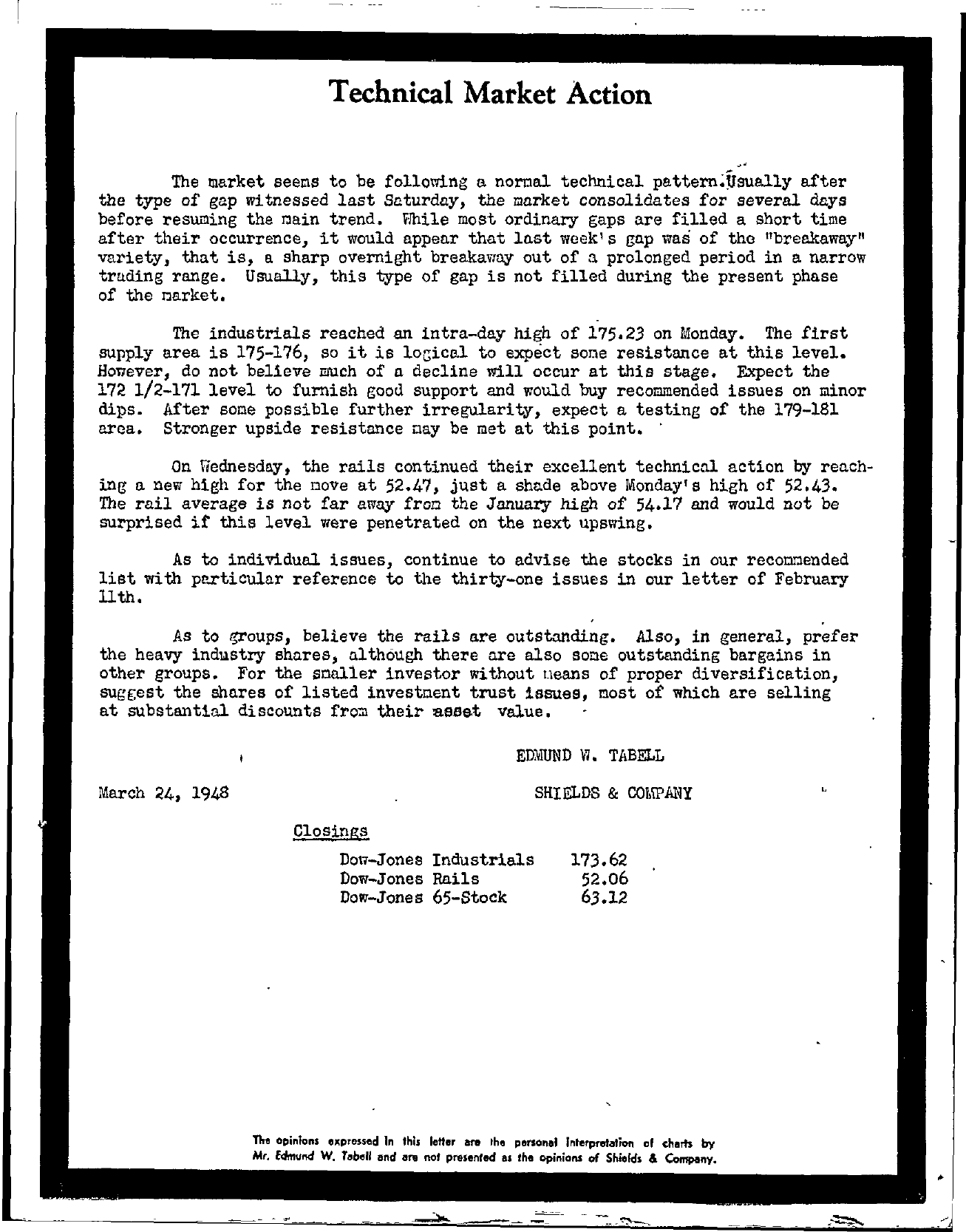 Tabell's Market Letter - March 24, 1948