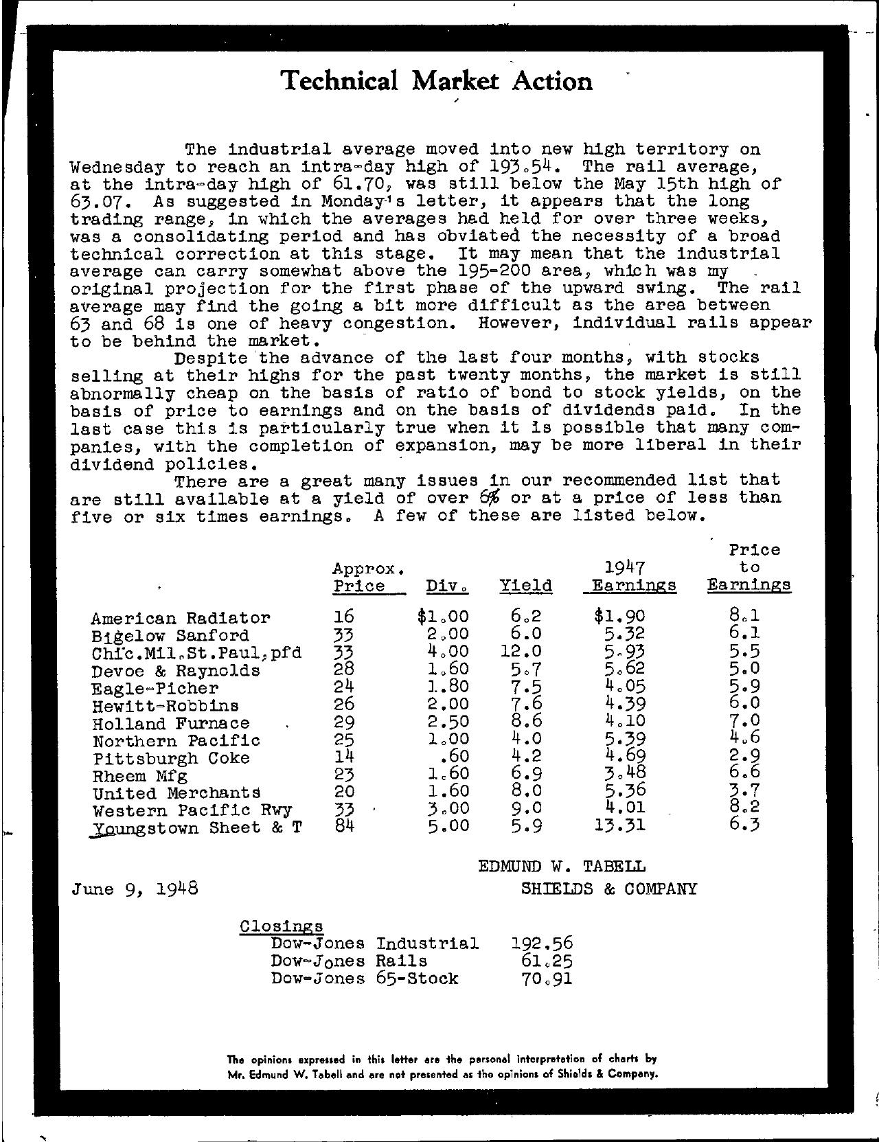 Tabell's Market Letter - June 09, 1948