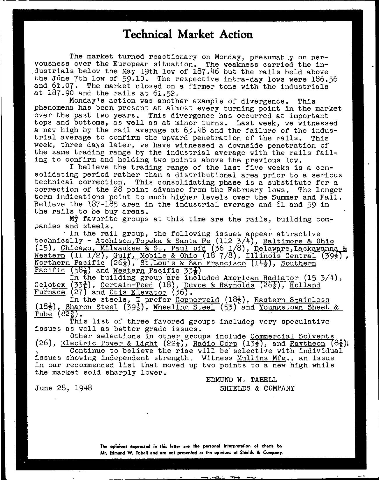 Tabell's Market Letter - June 28, 1948