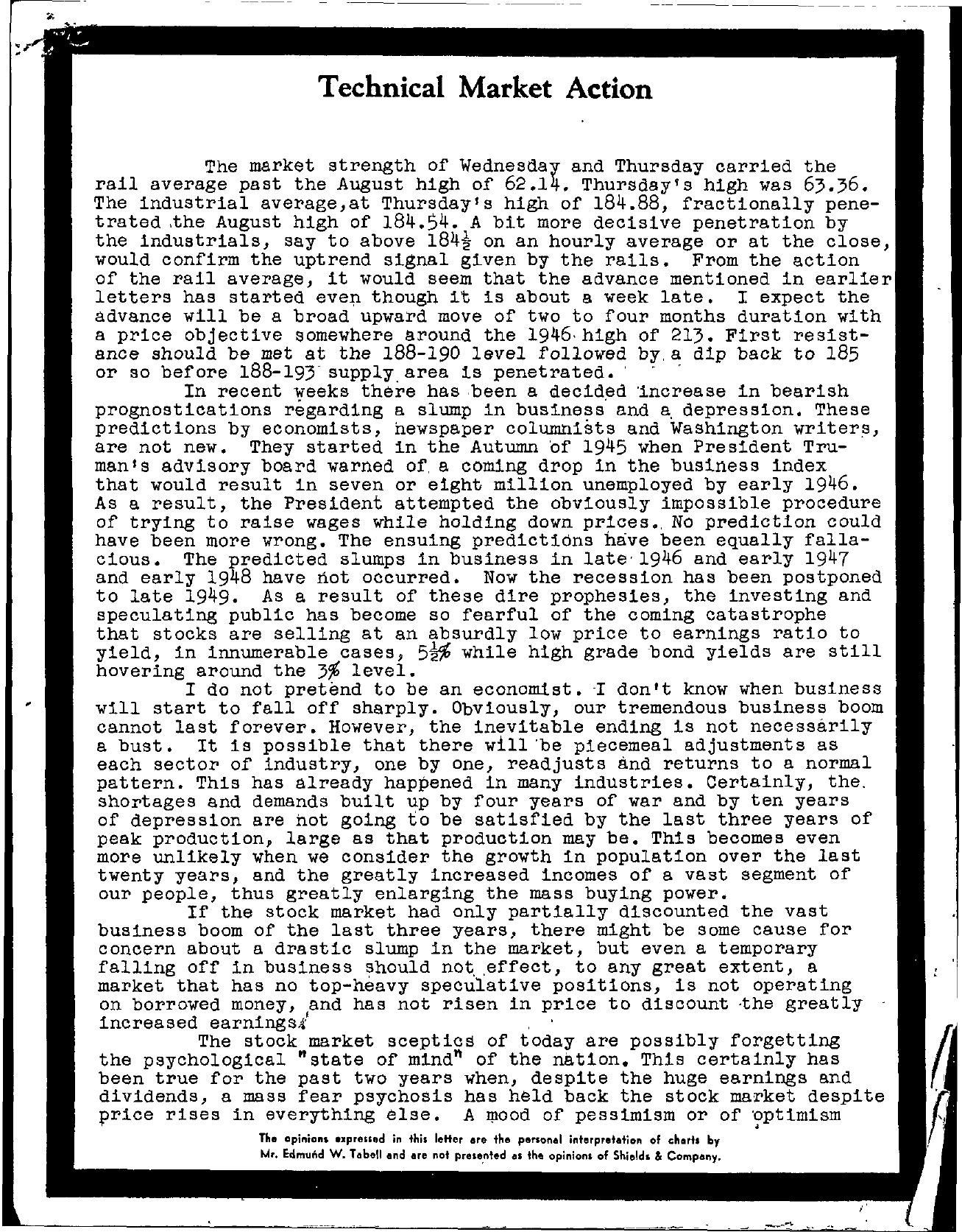 Tabell's Market Letter - September 02, 1948 page 1
