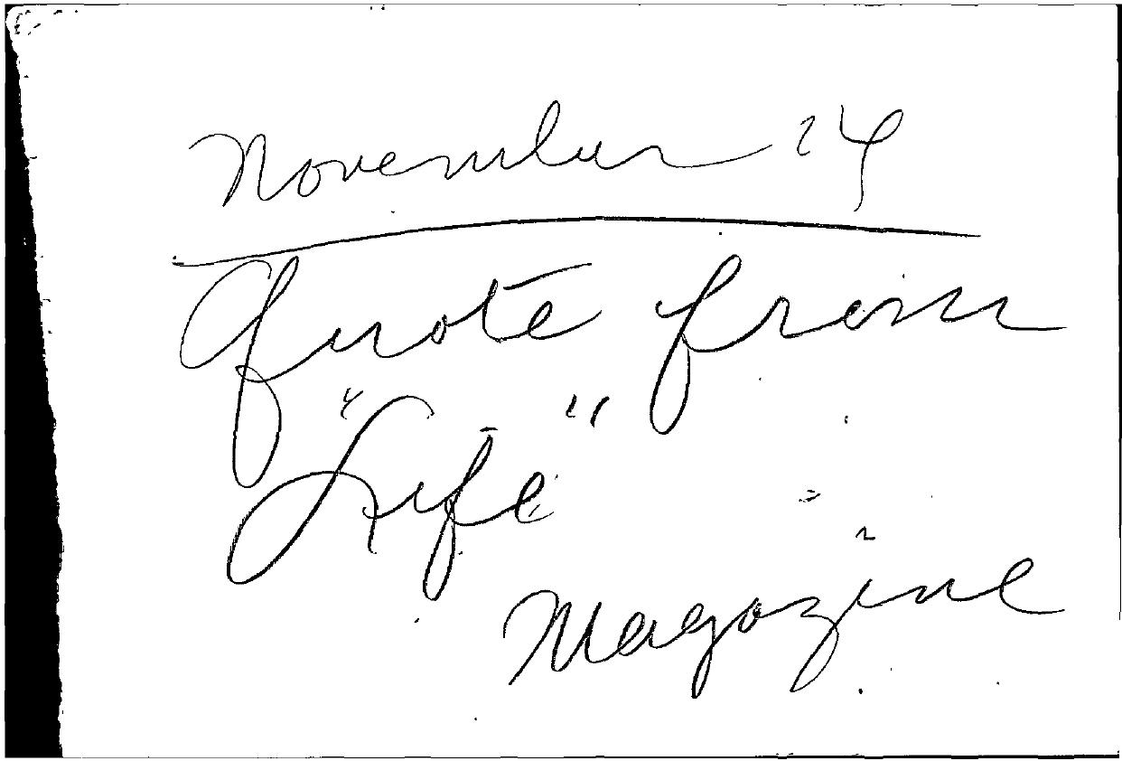 Tabell's Market Letter - November 24, 1952
