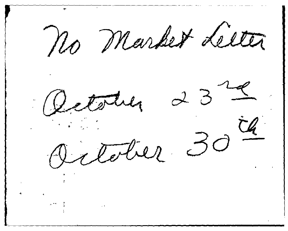 Tabell's Market Letter - October 23, 1953