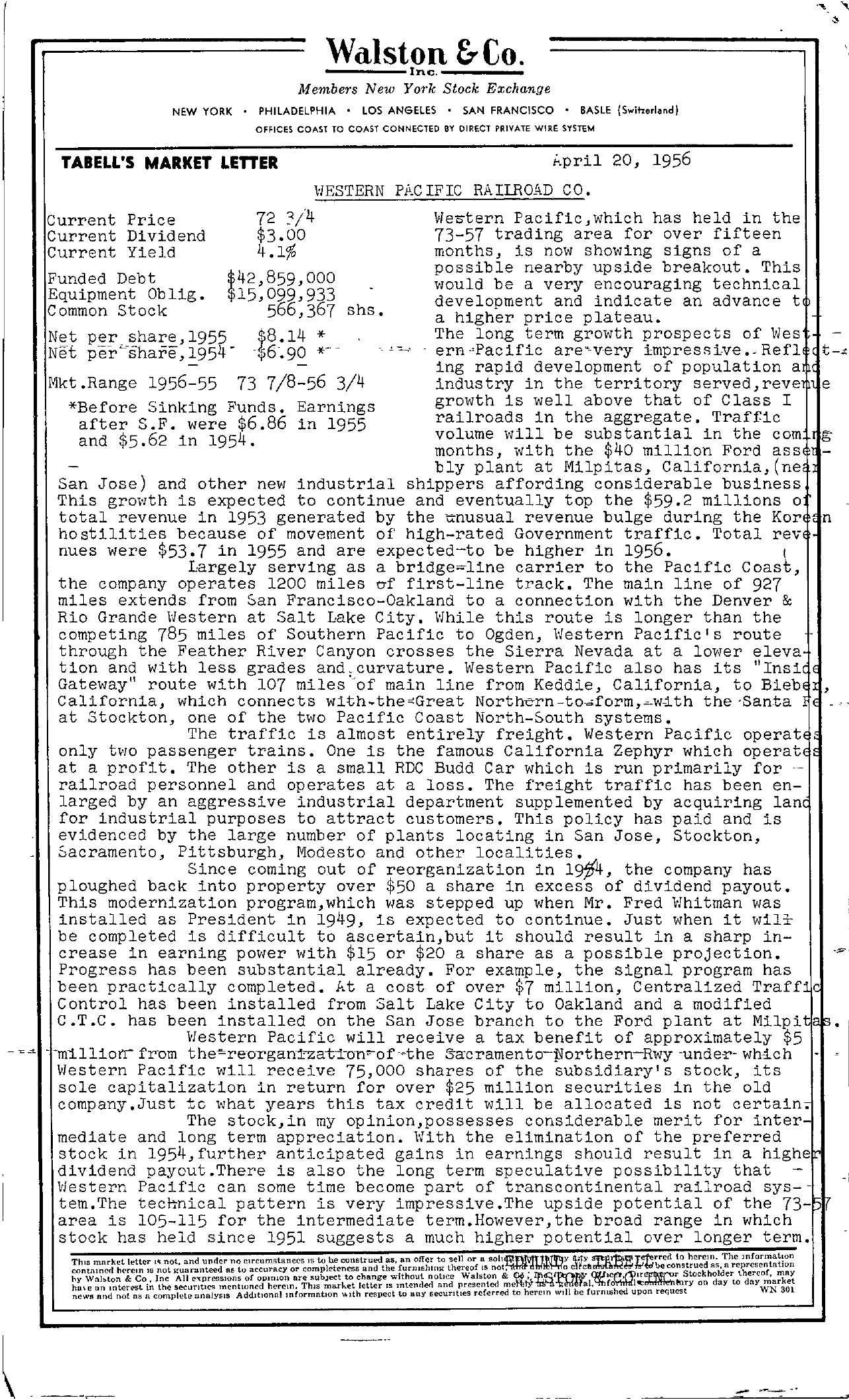 Tabell's Market Letter - April 20, 1956
