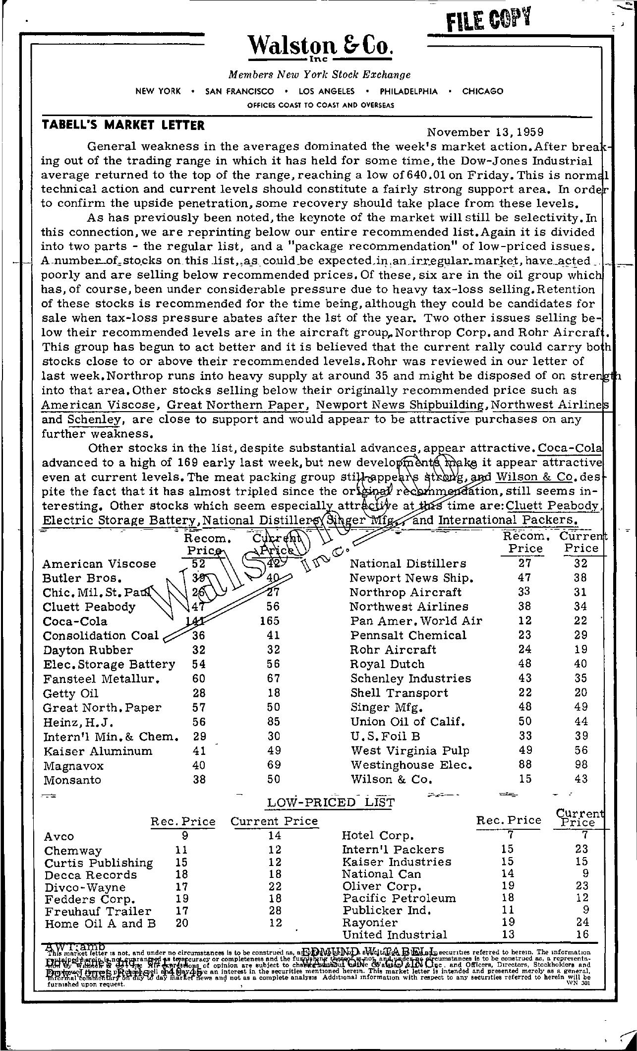 Tabell's Market Letter - November 13, 1959