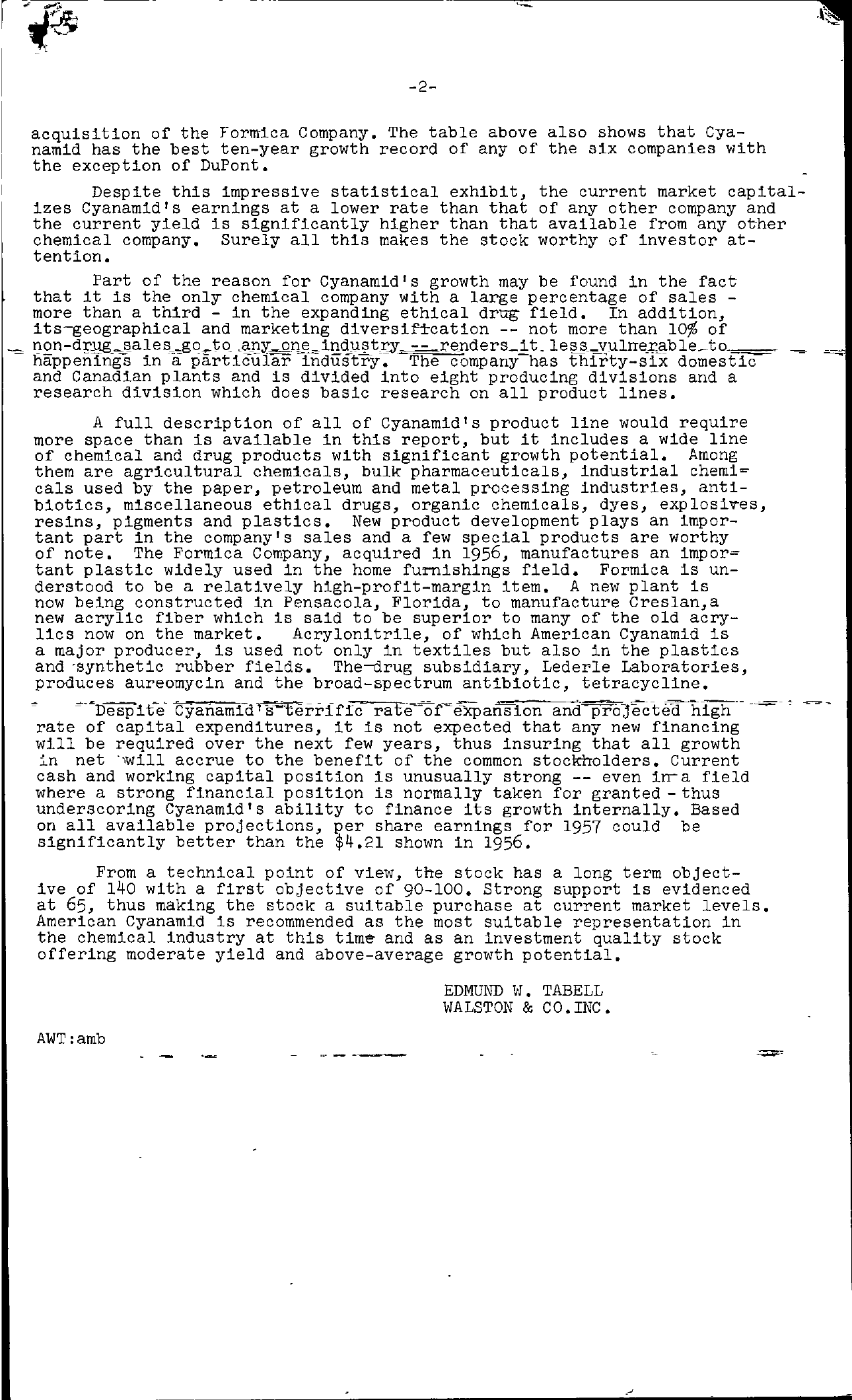 Tabell's Market Letter - March 01, 1957 page 2