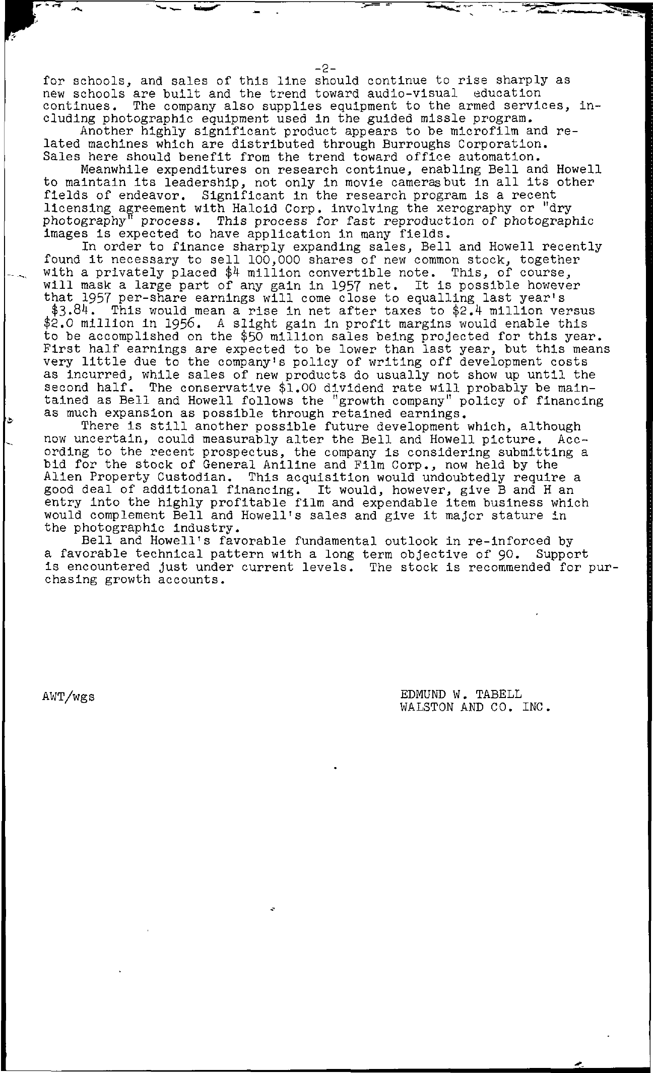 Tabell's Market Letter - June 28, 1957 page 2