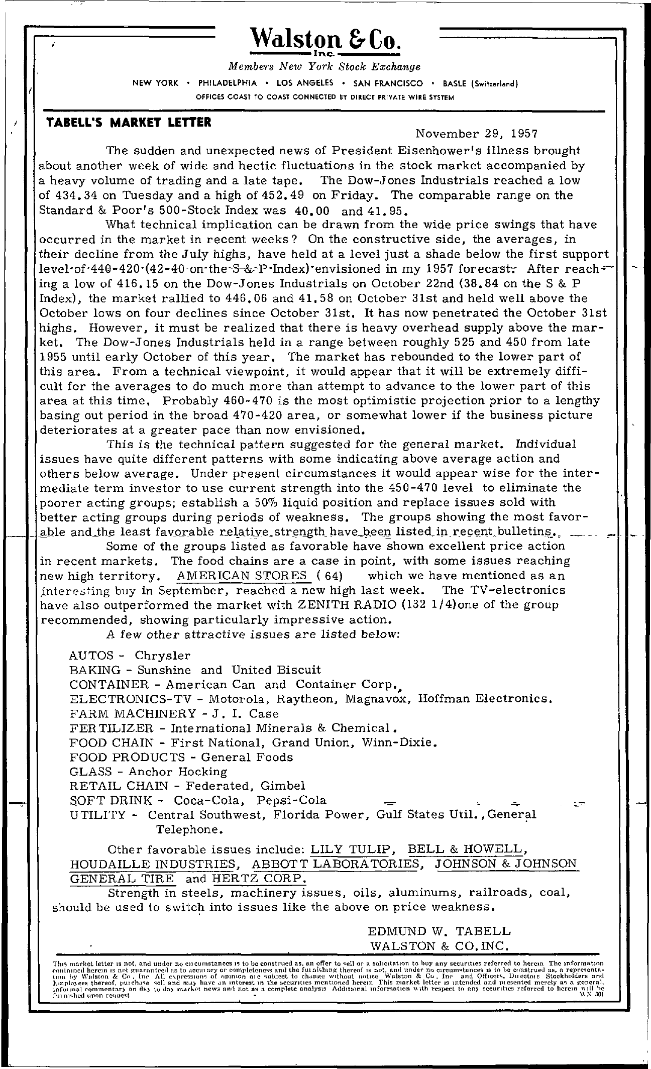 Tabell's Market Letter - November 29, 1957