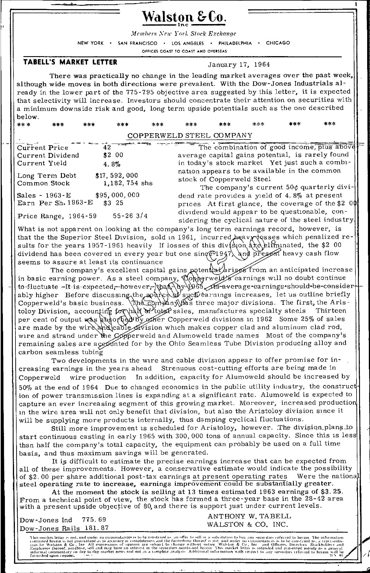 Tabell's Market Letter - January 17, 1964
