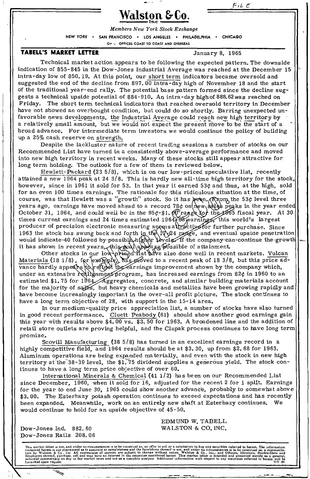 Tabell's Market Letter - January 08, 1965