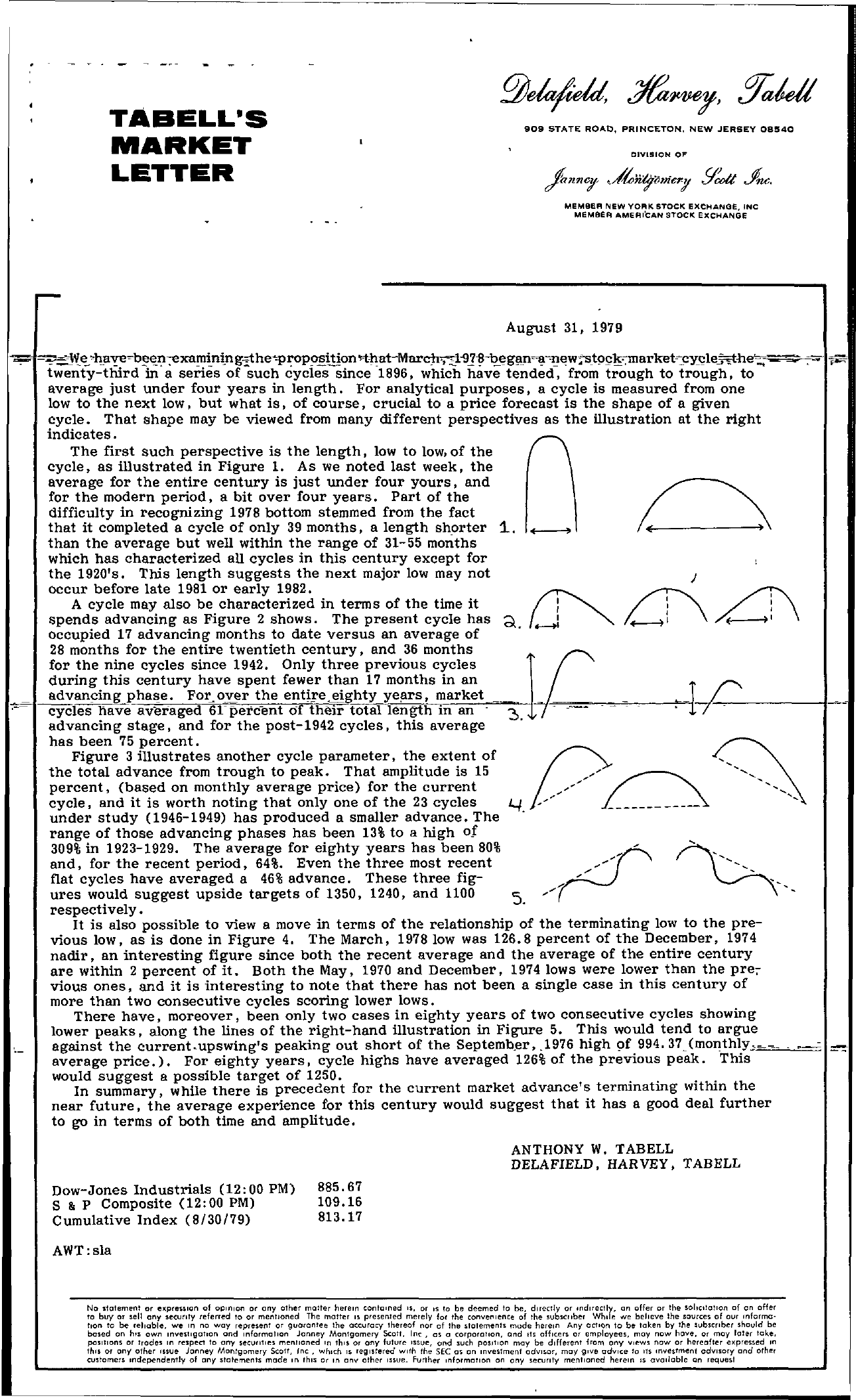 Tabell's Market Letter - August 31, 1979