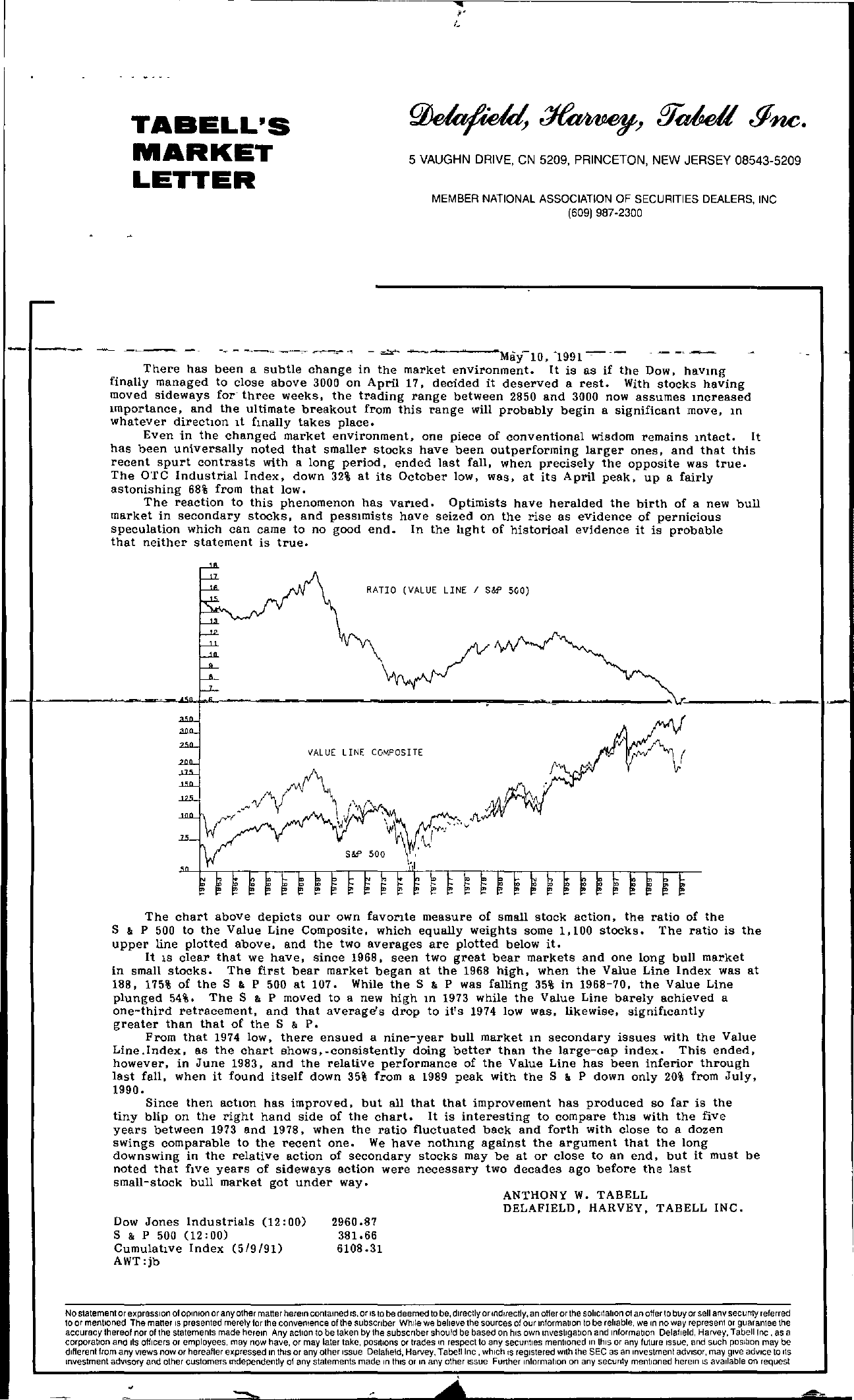 Tabell's Market Letter - May 10, 1991